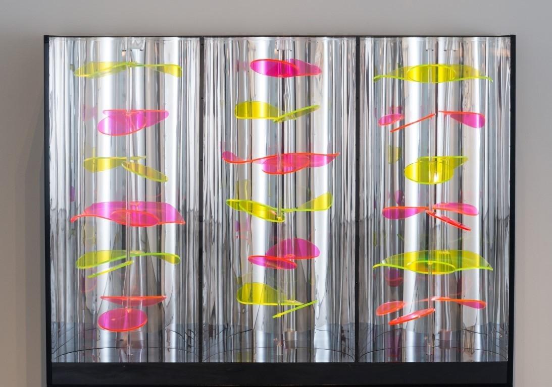 "Martha Boto, ""Deplacements optico-hydrauliques,"" 1970, mixed media"