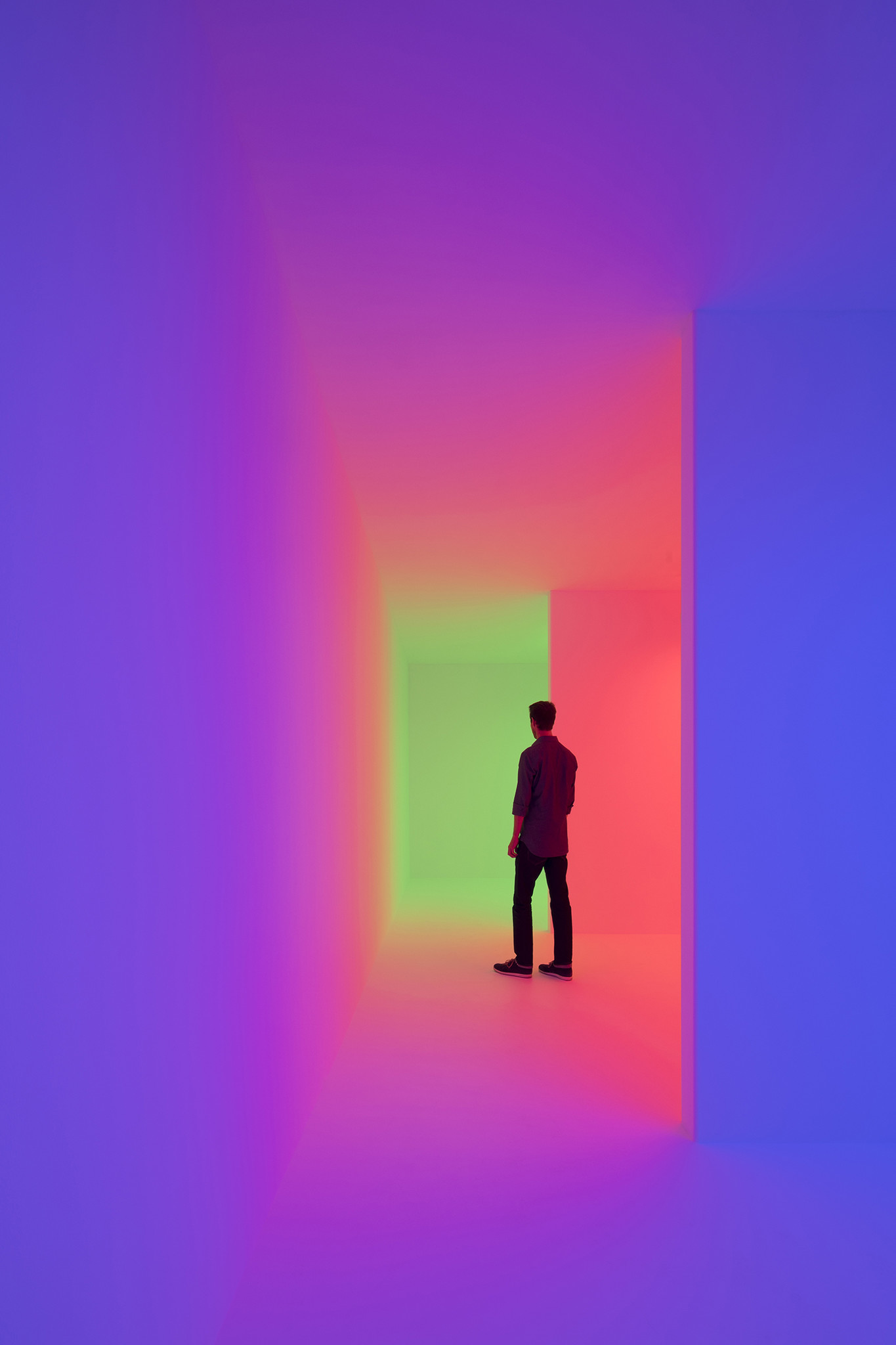 "Carlos Cruz-Diez, ""Chromosaturation,"" 1965/2017, mixed media"