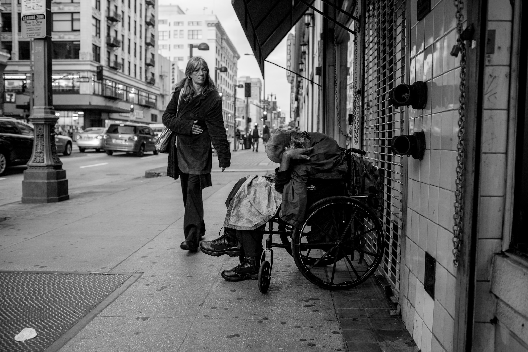 """""""I wish there were someone around to help. 1,"""" from a new series by Rafael Cardenas, on view in Chinatown."""