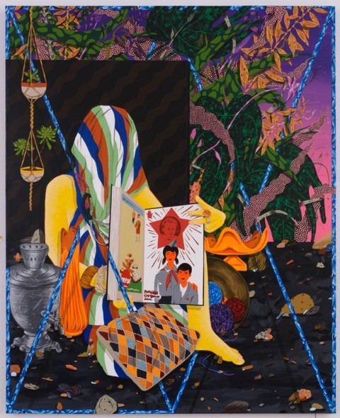 """""""Young Pioneers,"""" by Amir Fallah, from the artist's solo show at Shulamit Nazarian."""
