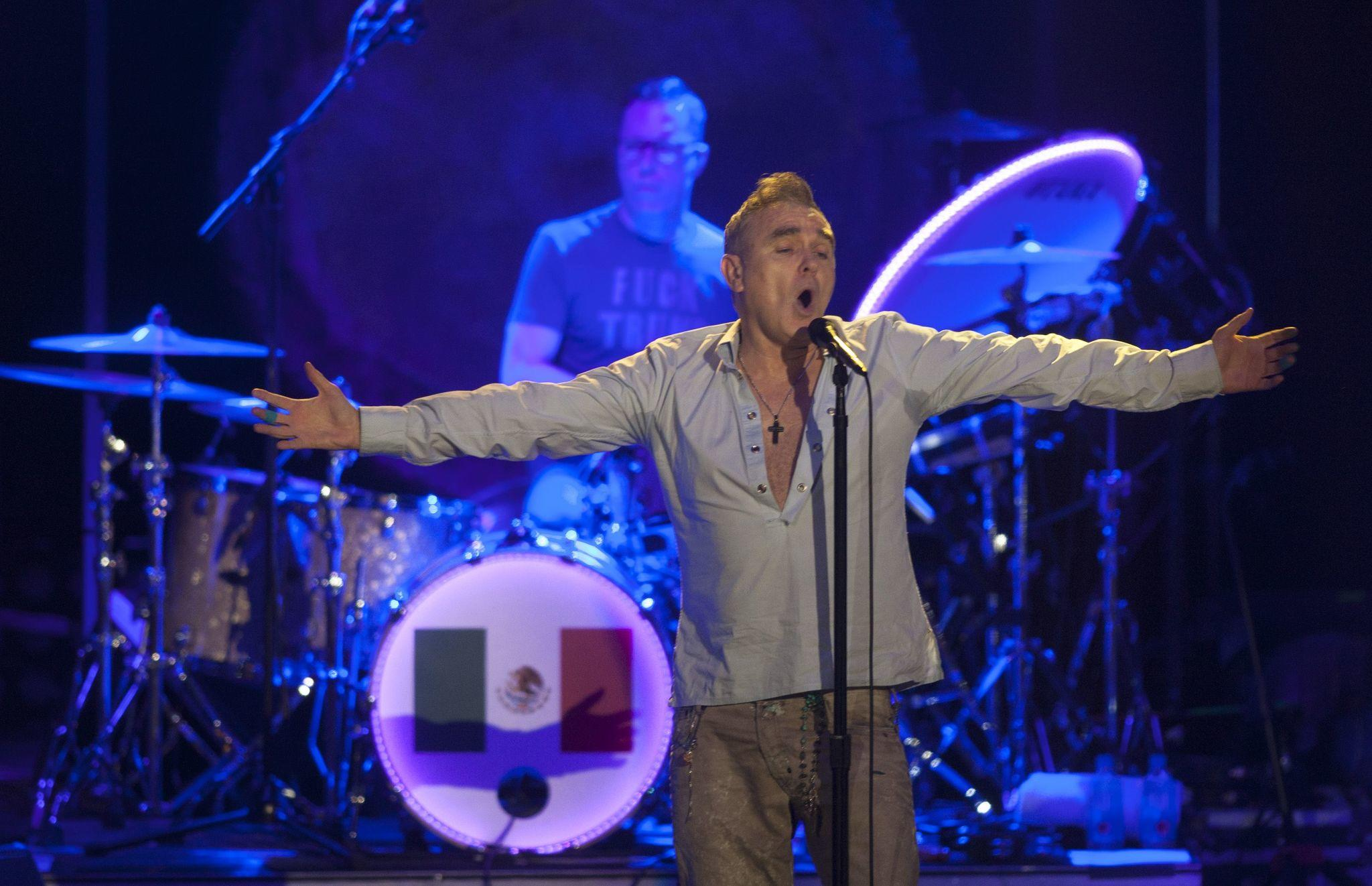 """Coinciding with his Hollywood Bowl shows this weekend, Morrissey will be celebrated on Friday with """"Morrissey Day"""" in Los Angeles. (Julio Cesar Aguilar / AFP/Getty Images)"""
