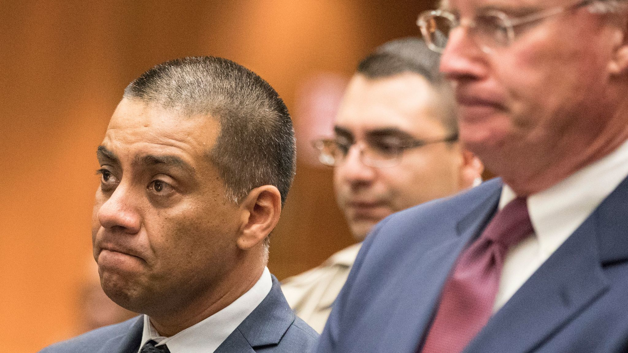 L.A. school board member Ref Rodriguez, left, appears in court this month with his attorney, Daniel V. Nixon.