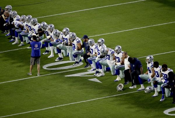 a6956e4c Cowboys kneel before national anthem on Monday Night Football ...