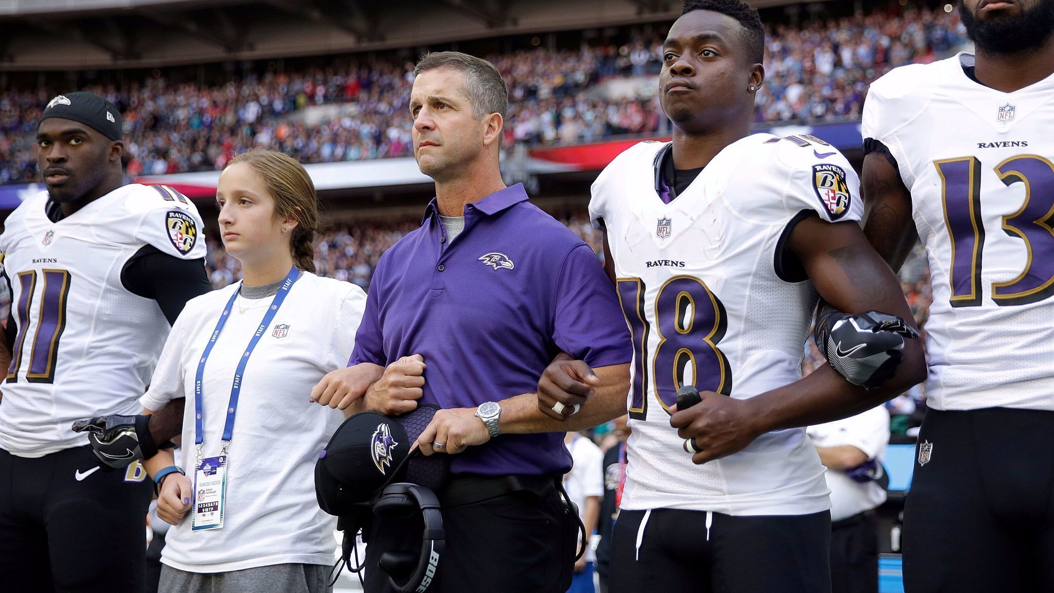 John Harbaugh on the Ravens' protests during national ...