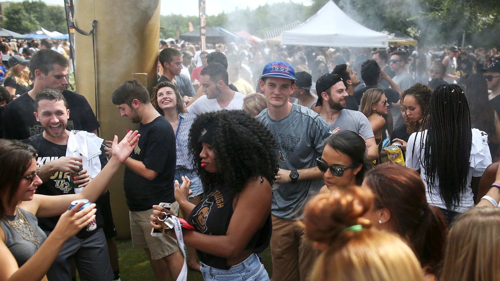 Tailgating at a UCF football game offers raucous party
