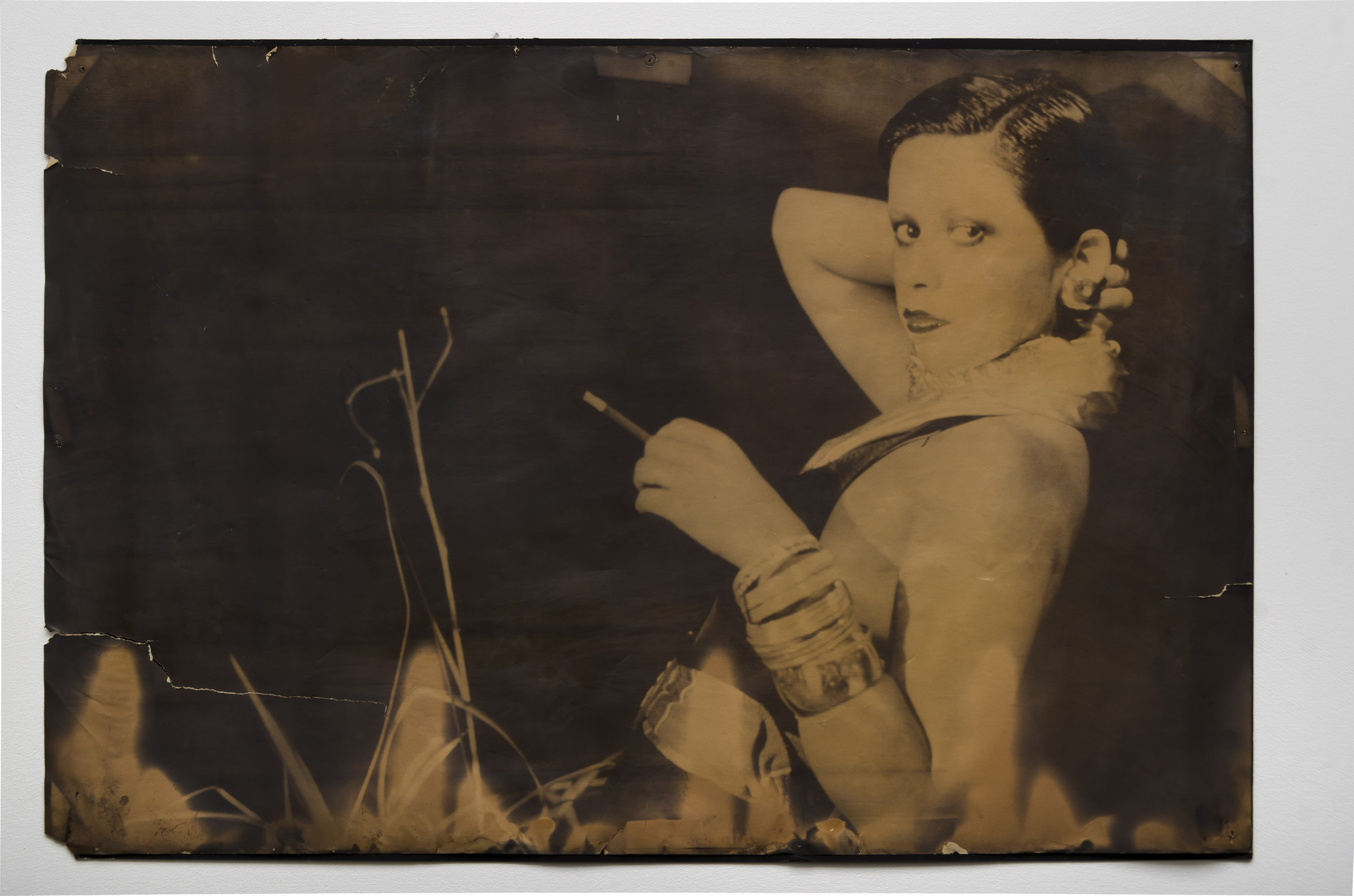 "Patssi Valdez, ""Portrait of Patssi,"" 1975, photograph on poster paper."