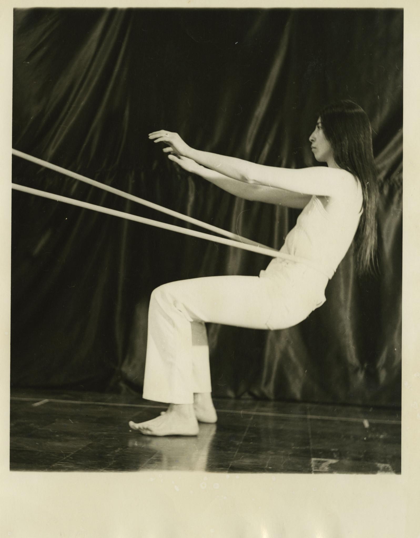 "Sylvia Palacios Whitman, ""Sling Shot,"" 1975, gelatin silver print."