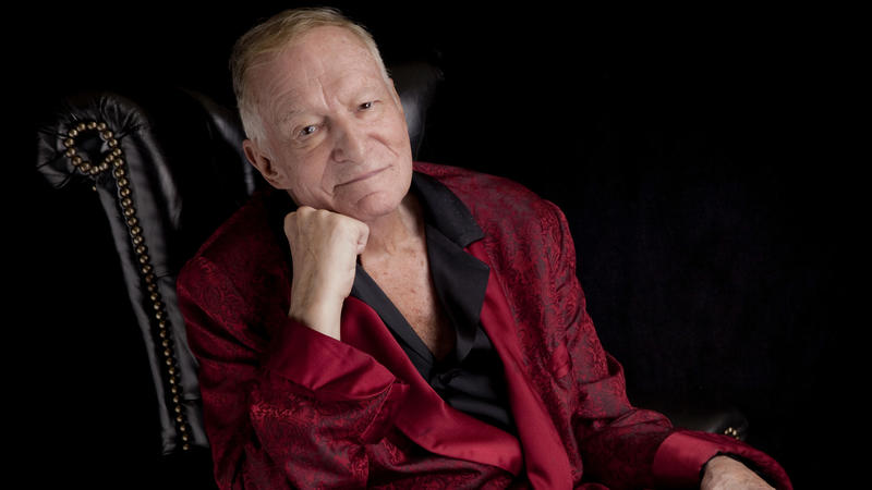 Hugh Hefner sits for a portrait in Los Angeles in August 2013.