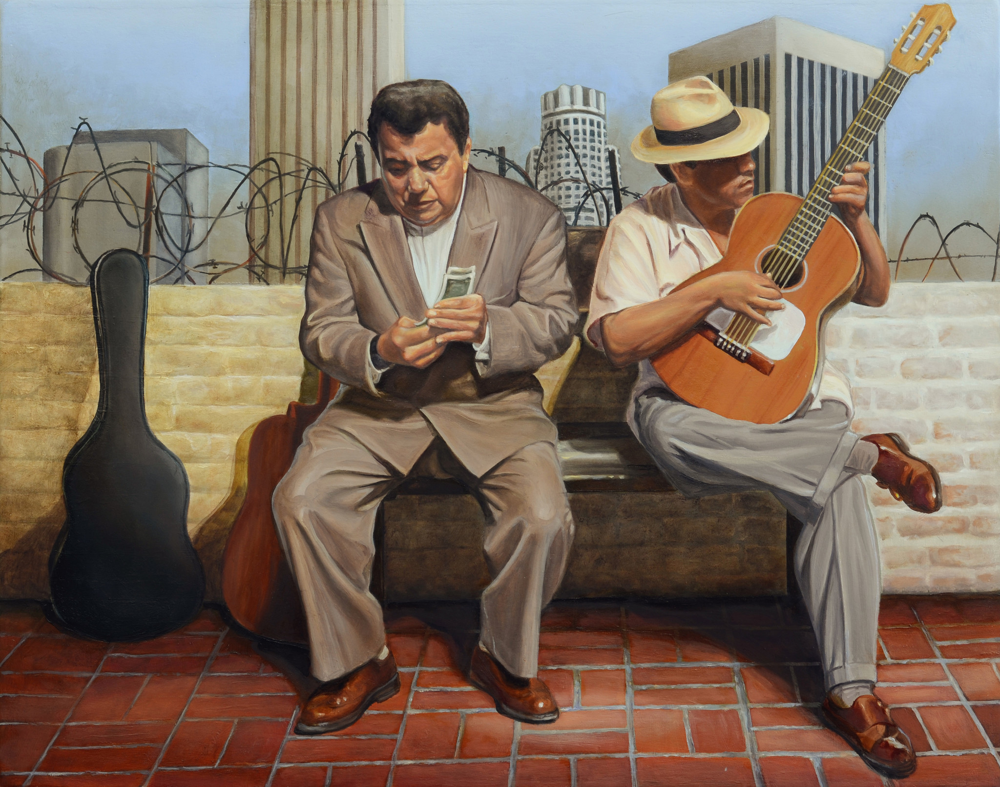 """""""Two For Me, One For You,"""" by Eloy Torrez at Plaza de la Raza."""