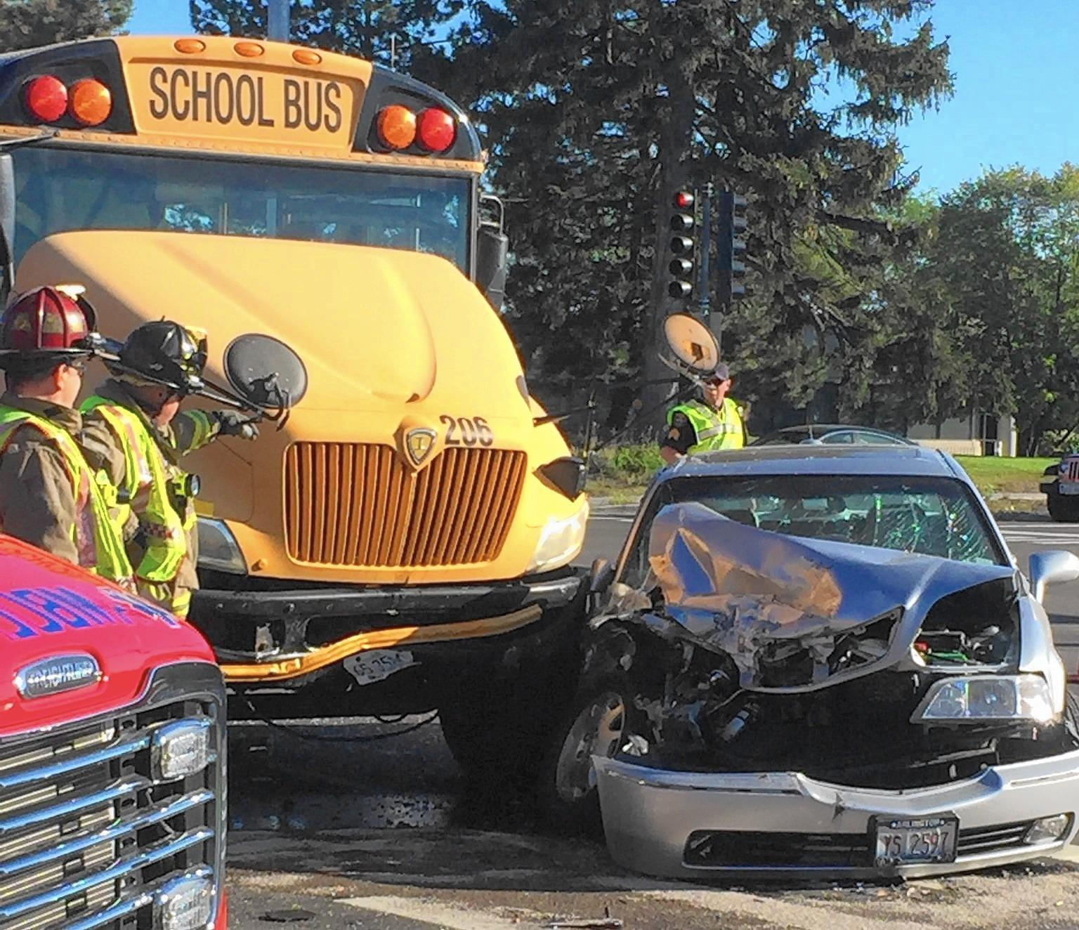7 Taken To Hospitals After Northbrook School Bus Crash