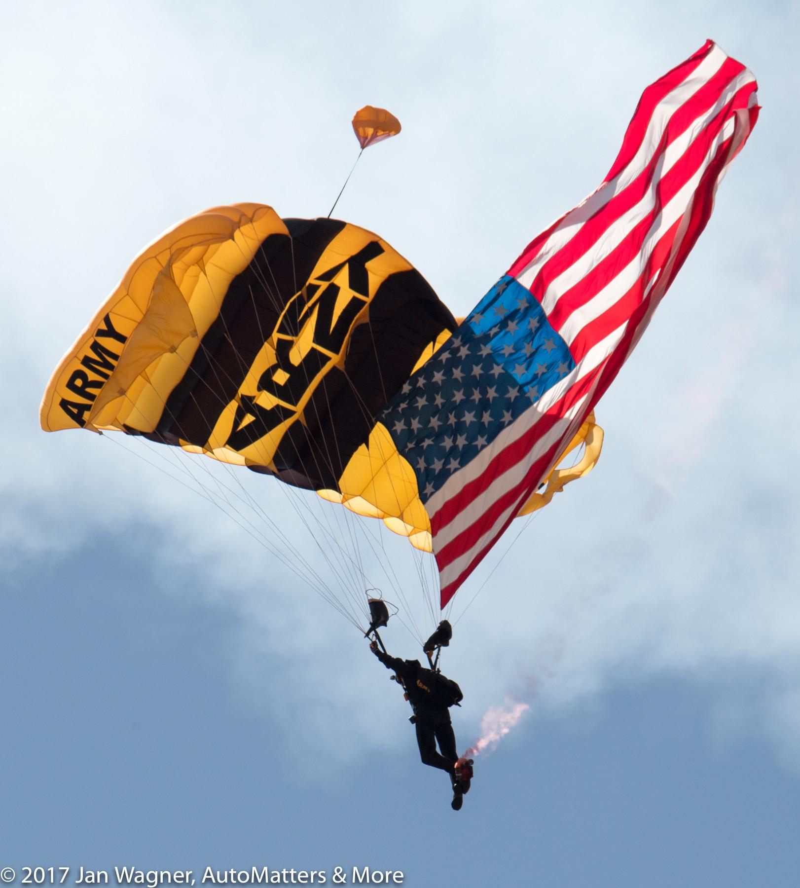 U.S. Army Golden Knights parachute team member