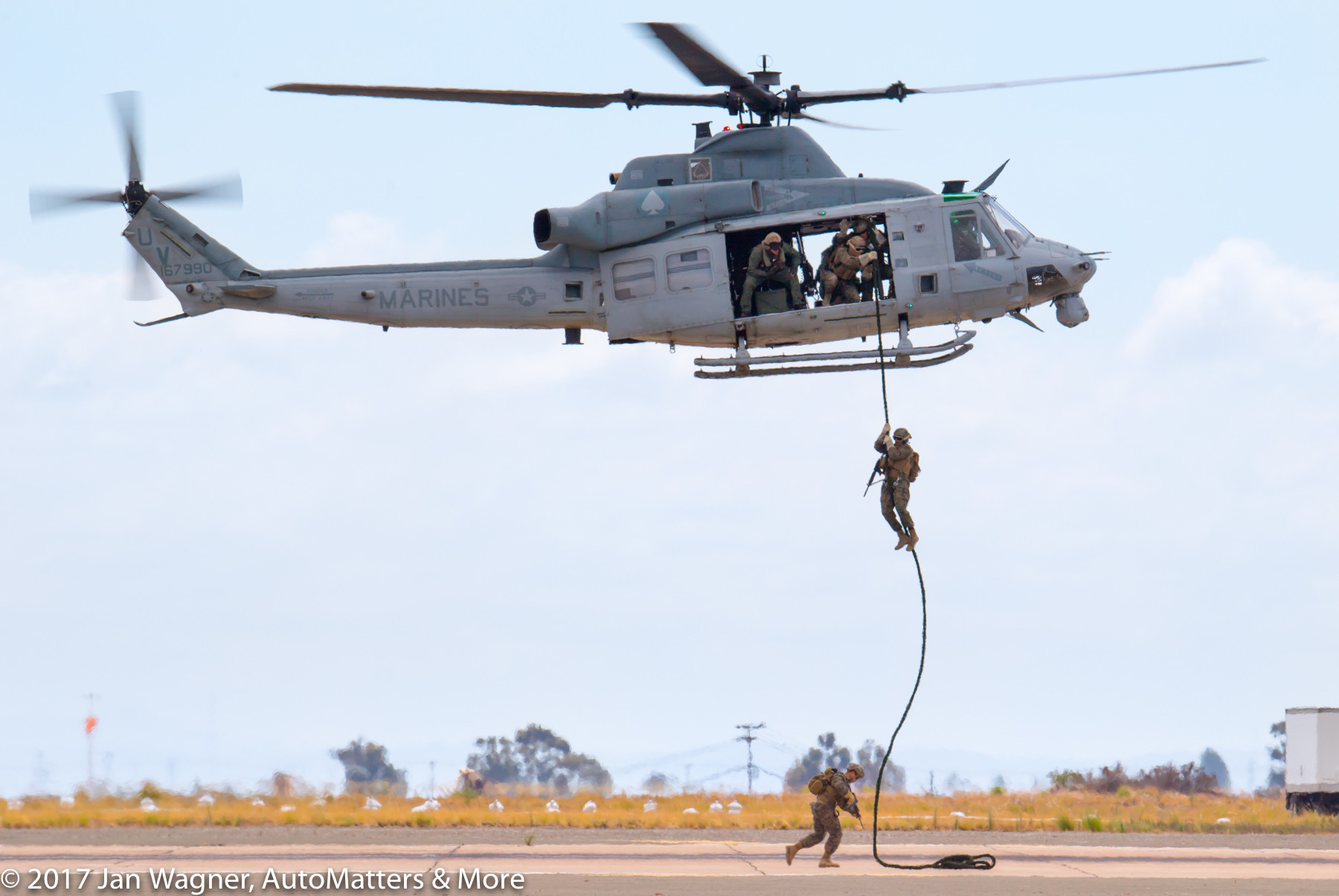 UH-1Y Huey deploying Marines in the Marine Air-Ground Task Force demonstration