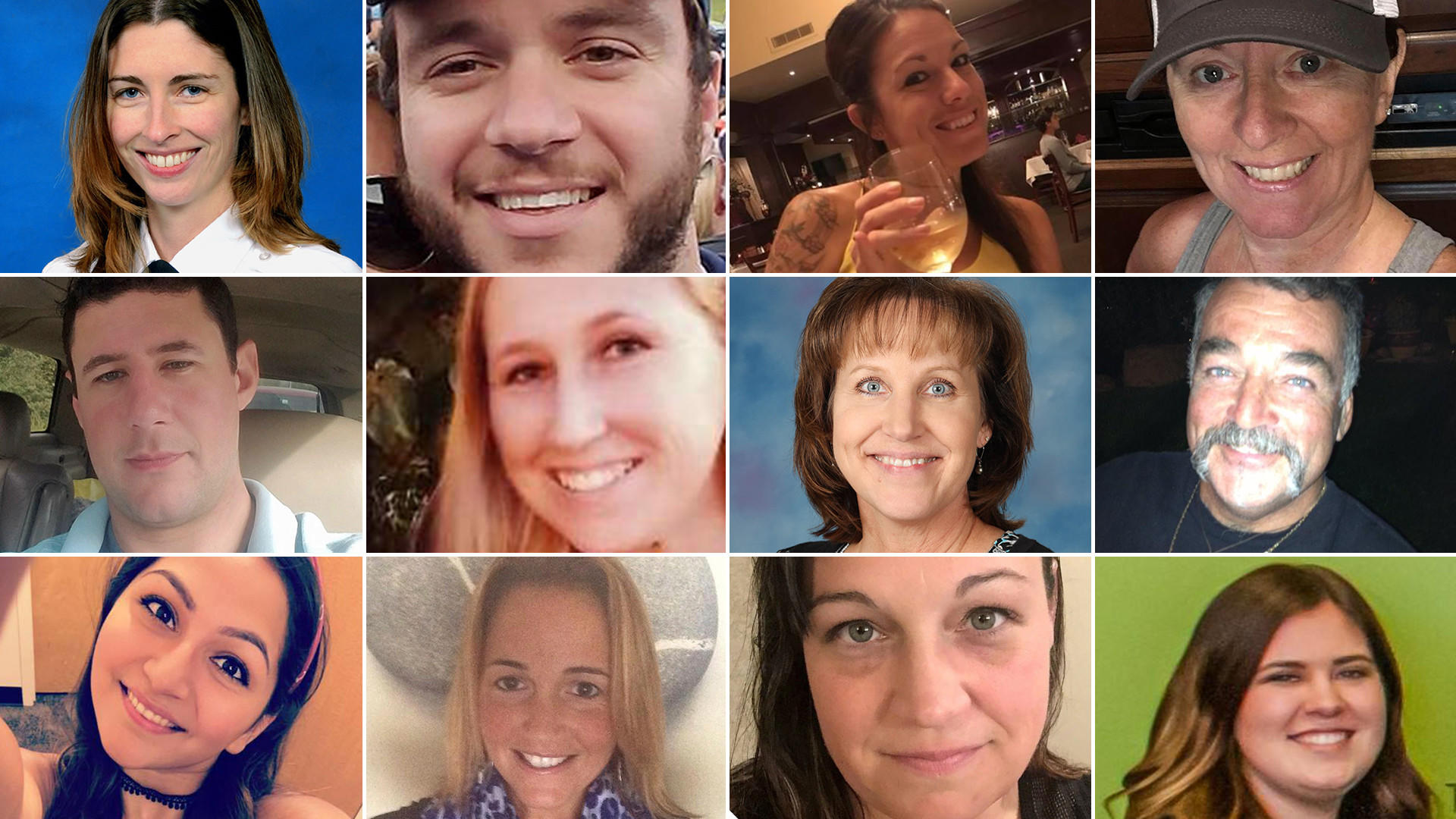 Some of the 58 victims of the Oct. 1 Las Vegas mass shooting.
