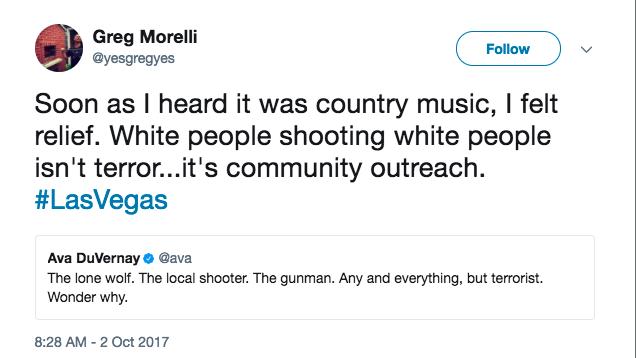 Greg Morelli tweet