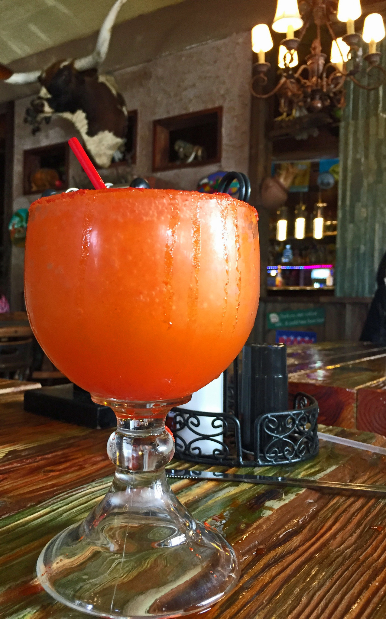 The li hing margarita at Mexico is pretty and potent.