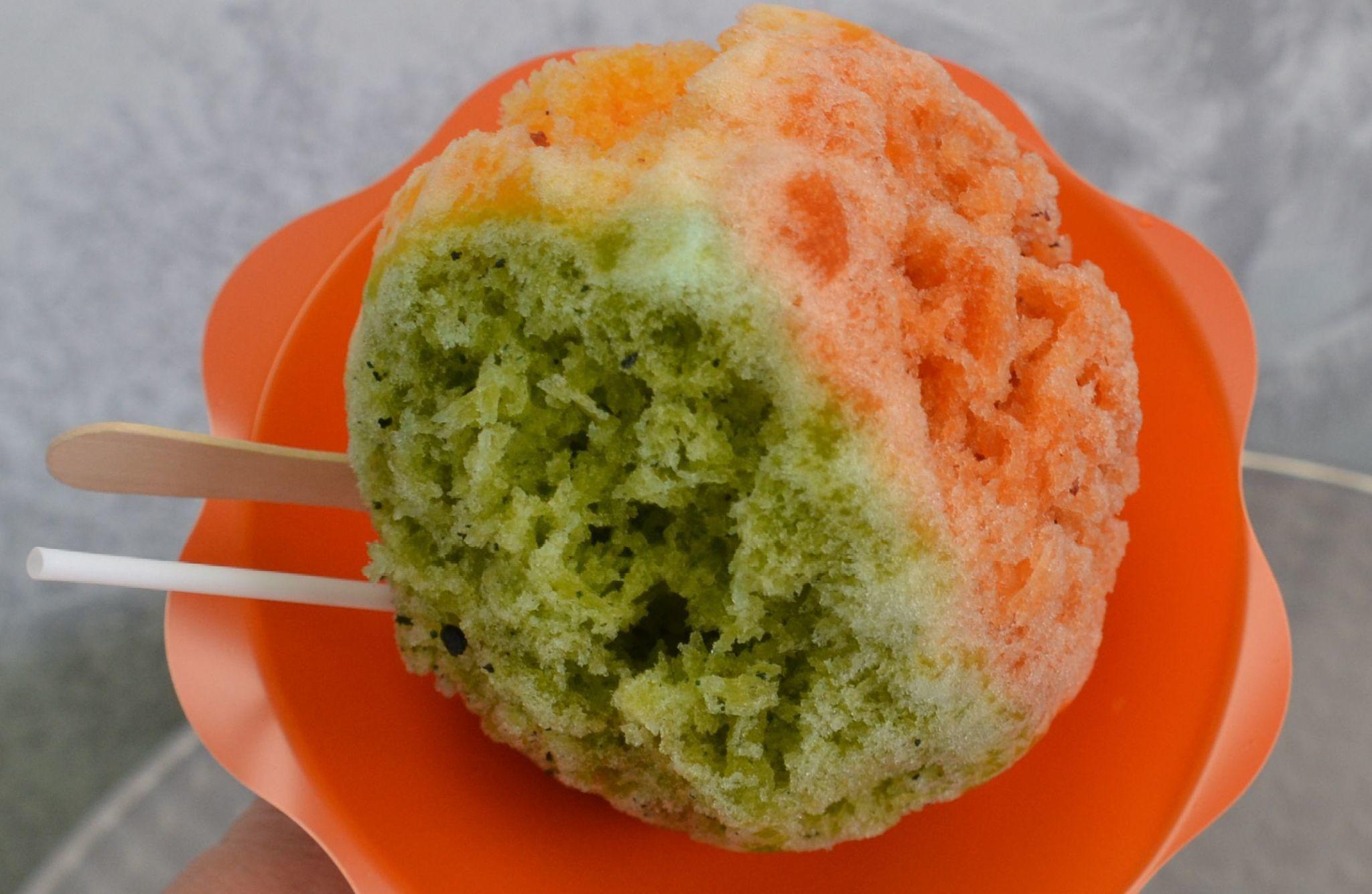 Shimazu's three li-hing combo contains pickled mango li hing.