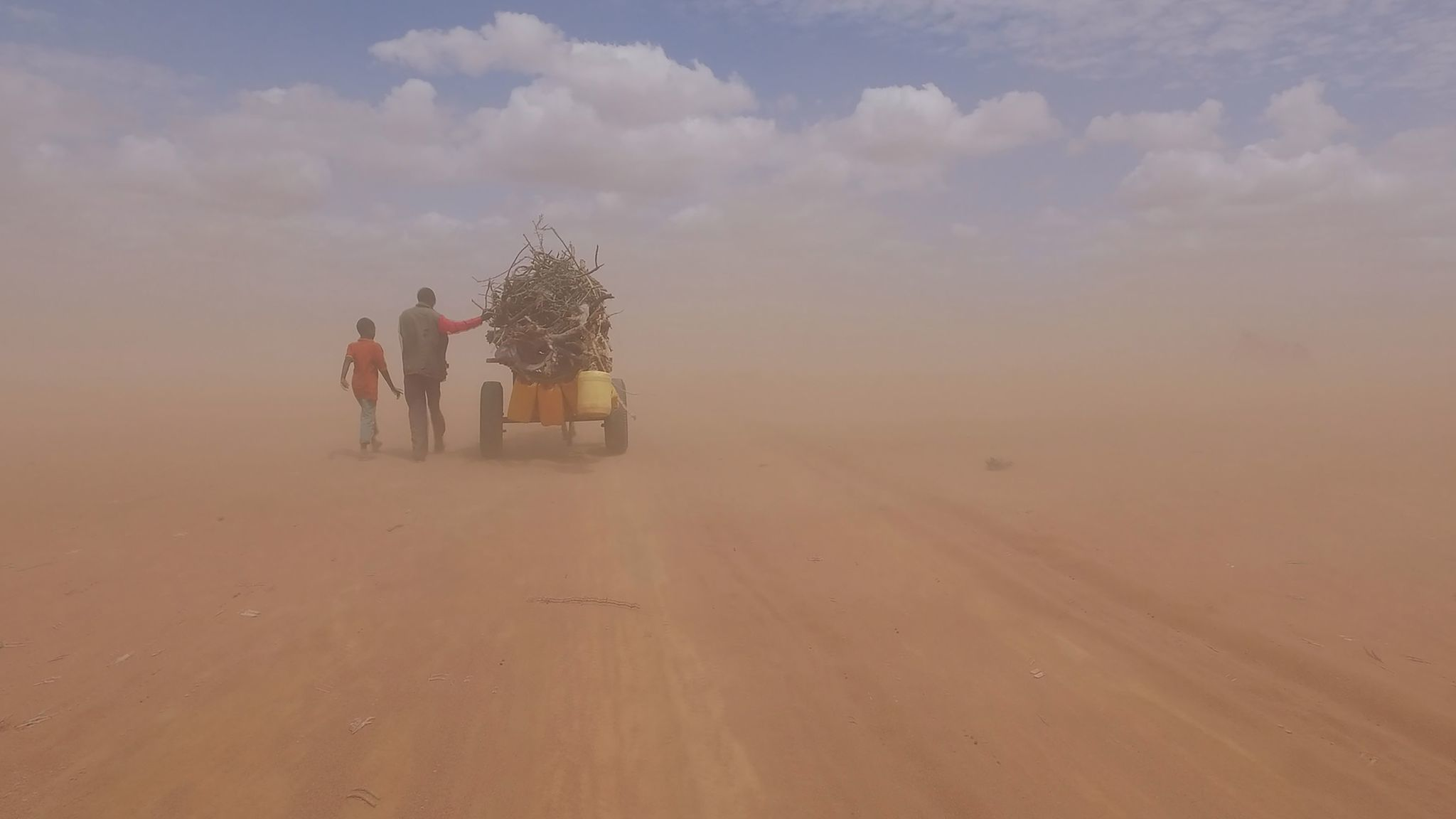"""A still from the Dadaab refugee camp in Kenya from the documentary """"Human Flow."""""""