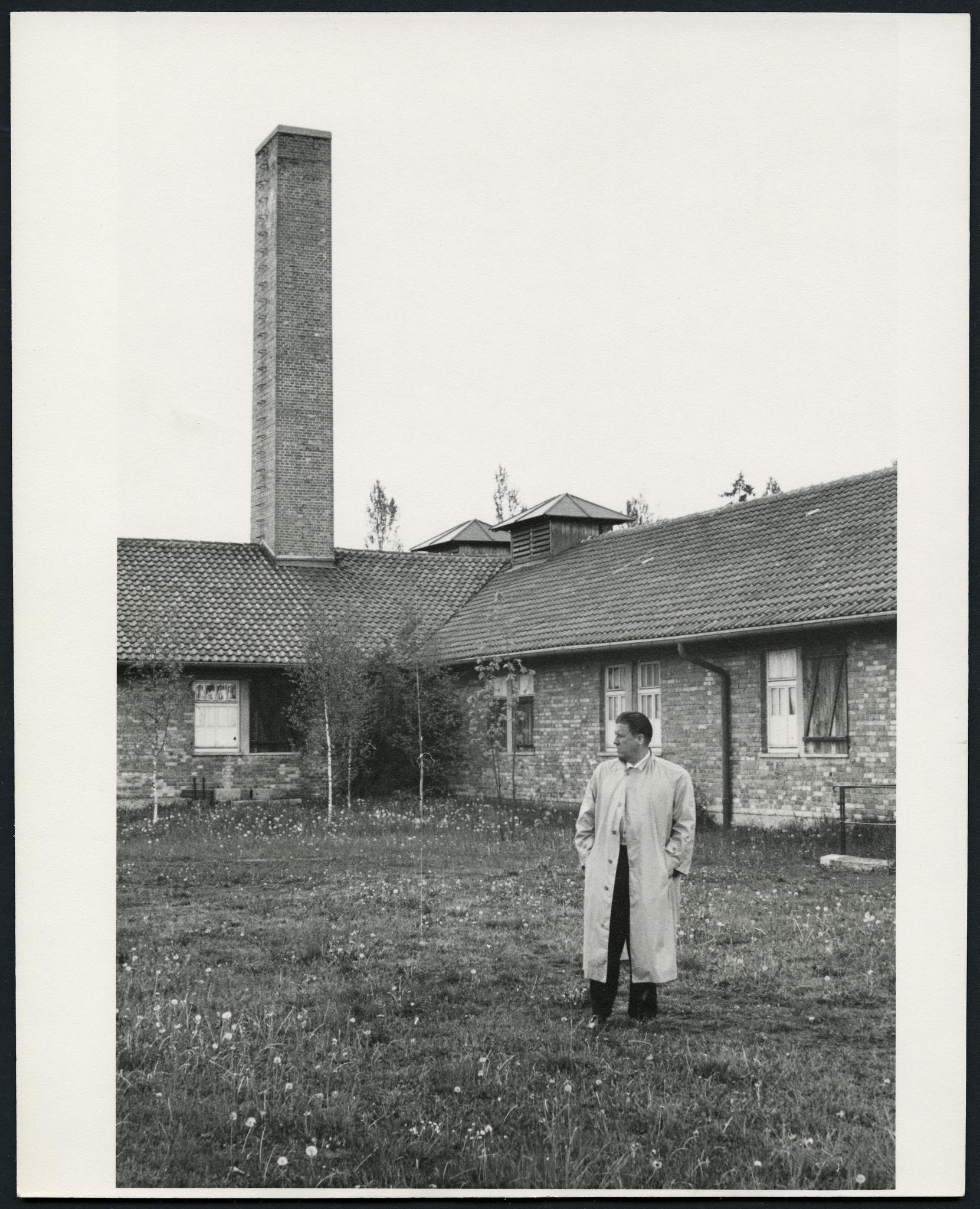 George Stevens at Dachau, 1957.