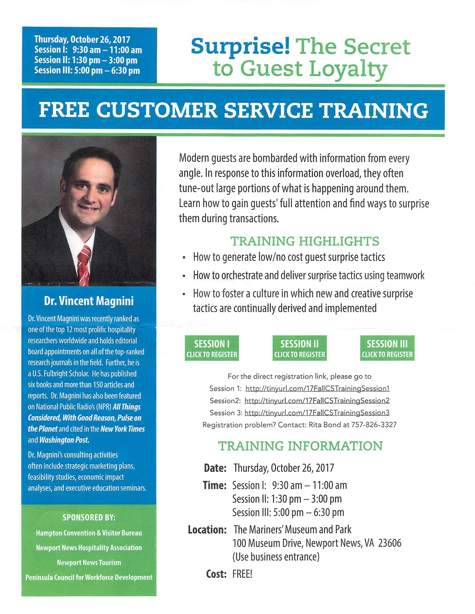 Free Customer Service Training To Hospitality Industry