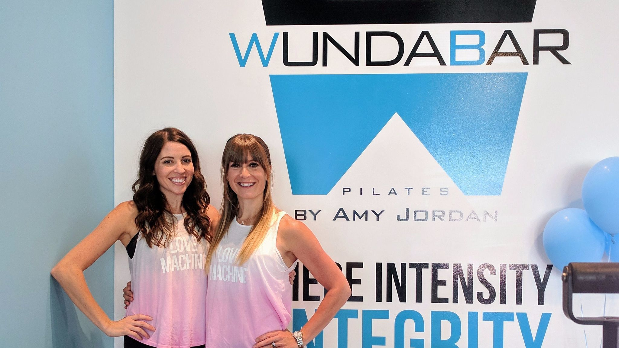 WundaBar studio owner Bri Blonigan, right, with instructor Donna Hilles.