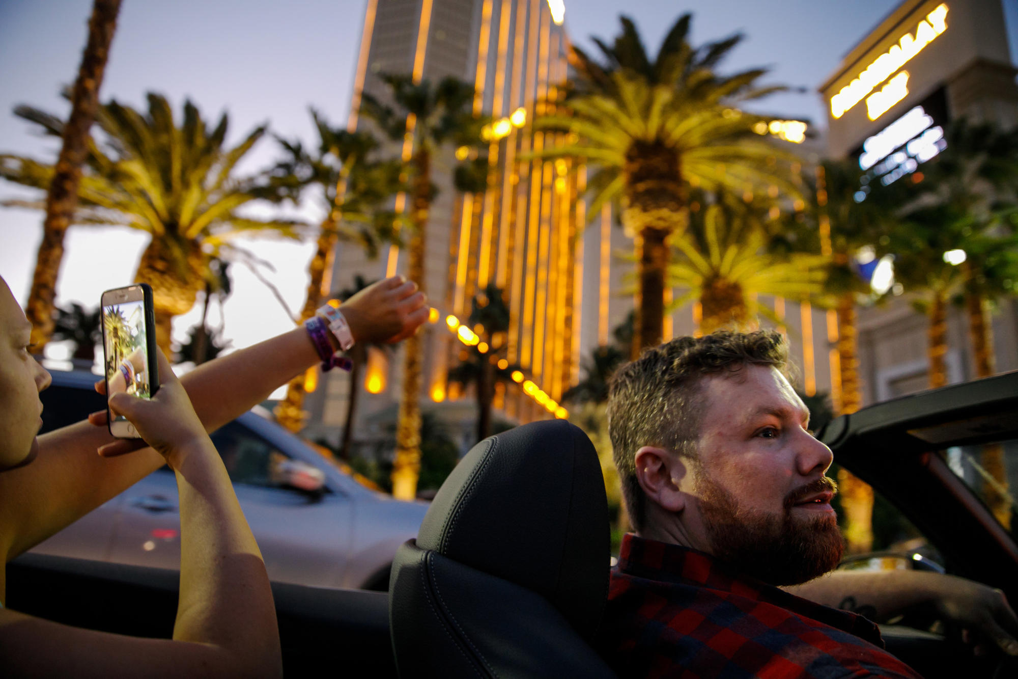 Brian MacKinnon drives through Las Vegas in the days after the shooting.