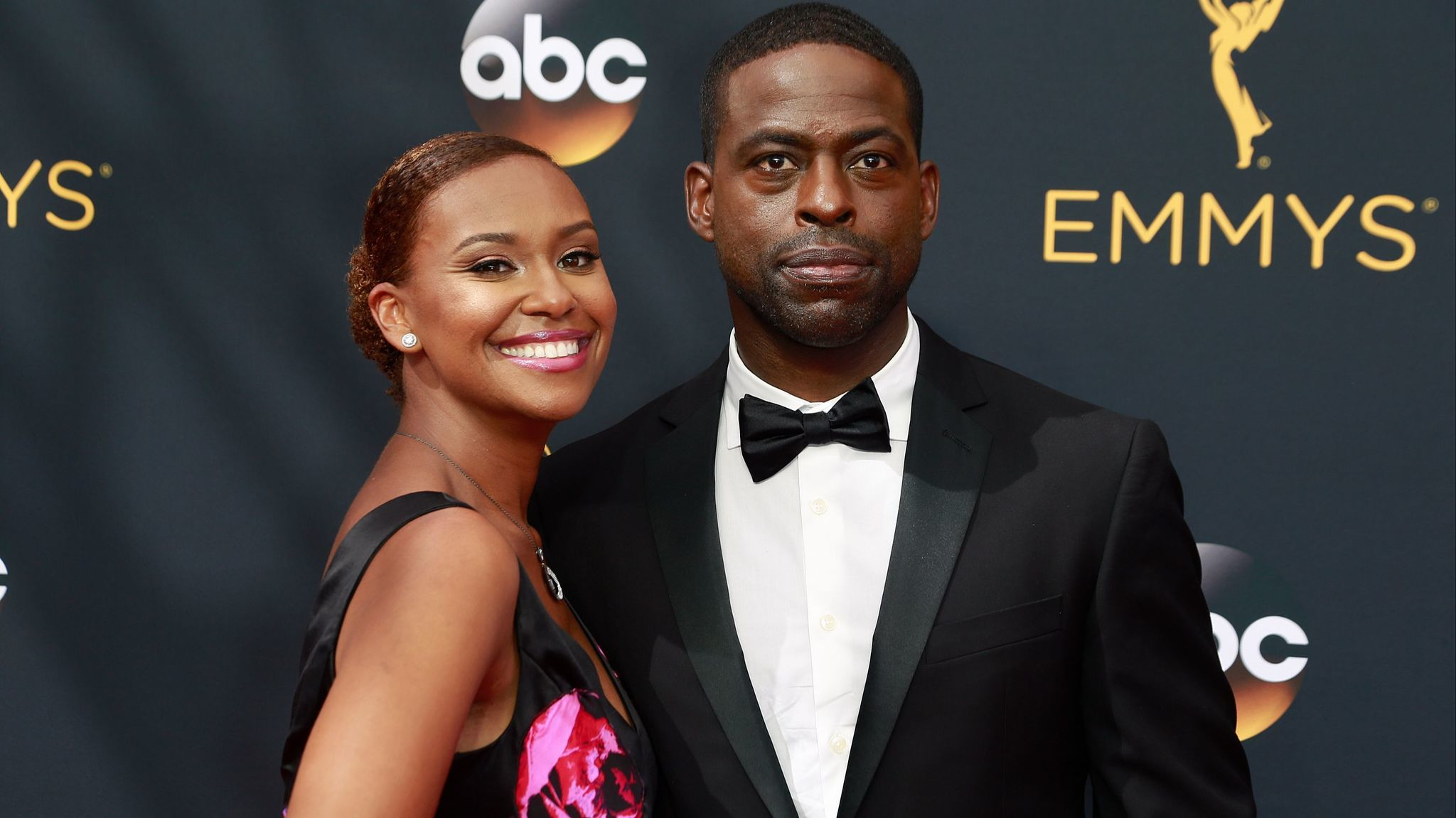 Actor Sterling K. Brown, and his wife, actress Ryan Michelle Bathe, light up the red carpet at the 68th Primetime Emmy Awards.