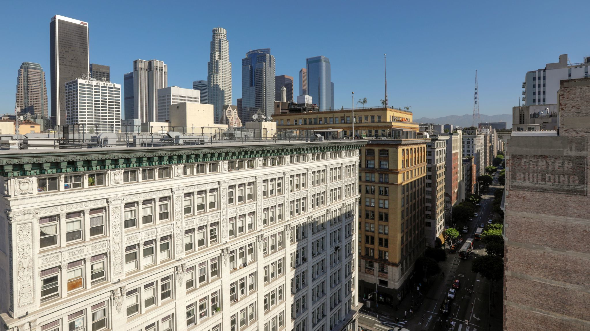 A view of the skyline from the Corporation Building on Spring Street.