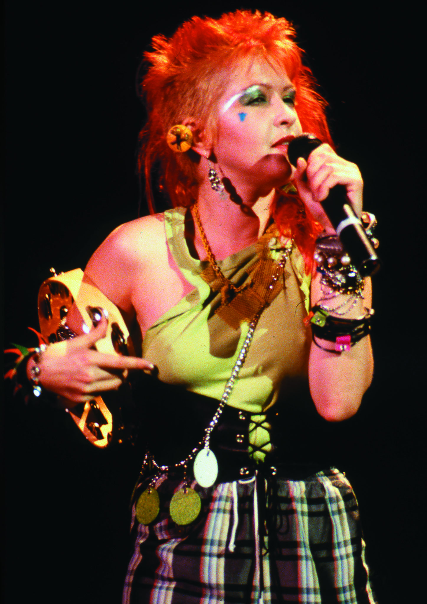 Cyndi Lauper at Irvine Meadows Ampitheatre in 1984.