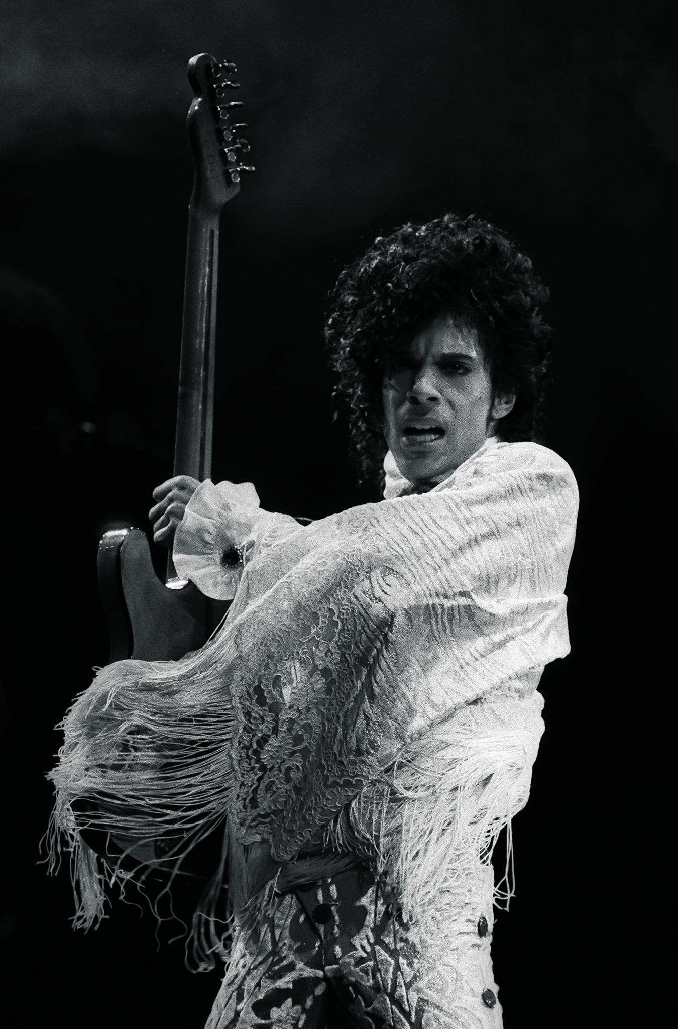Prince at the Greensboro Coliseum in North Carolina, Nov. 14, 1984.