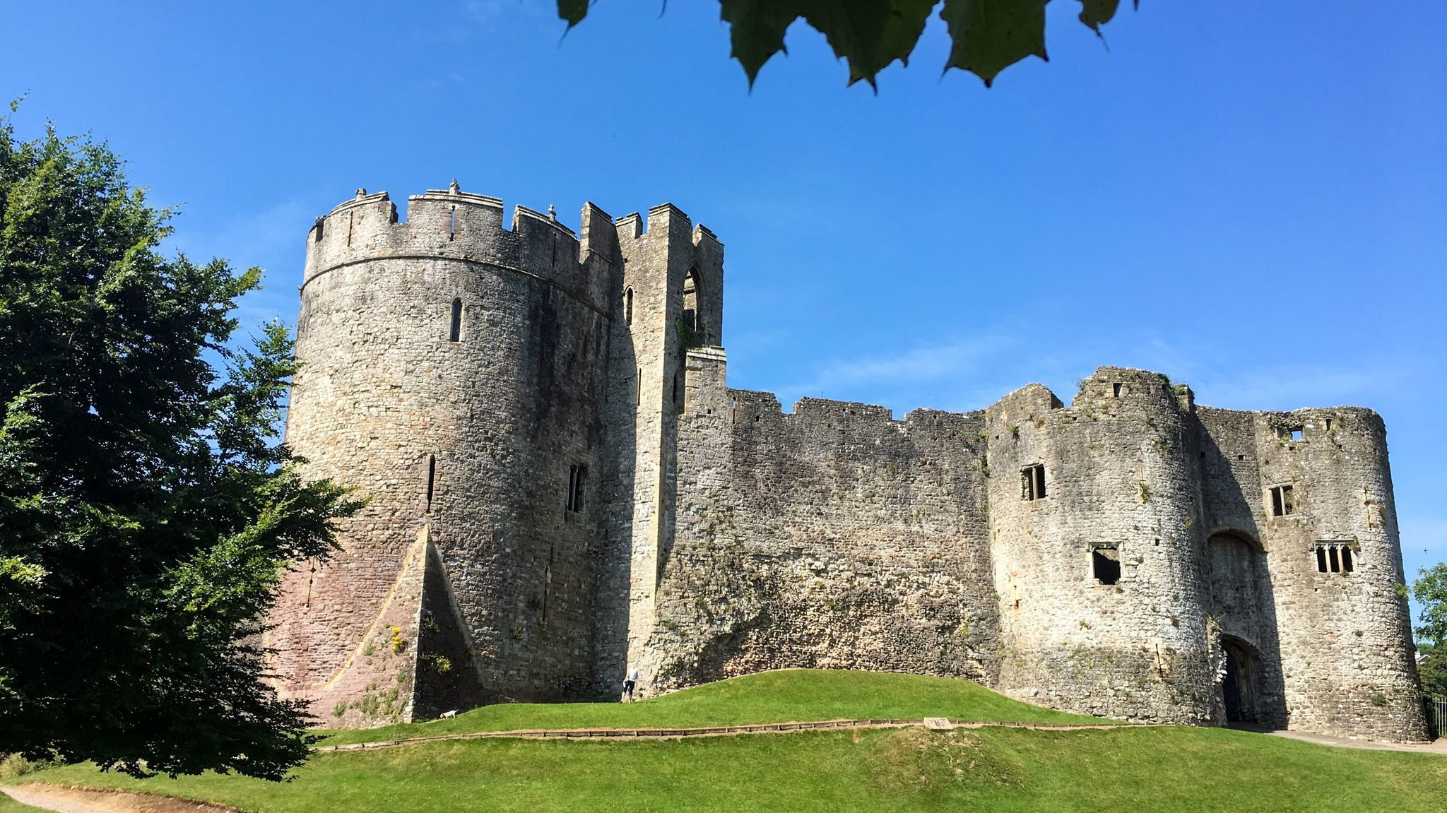 Chepstow Castle, perched high above the banks of the river Wye in southeast Wales. Construction began in 1067, less than a year after William the Conqueror was crowned King of England.