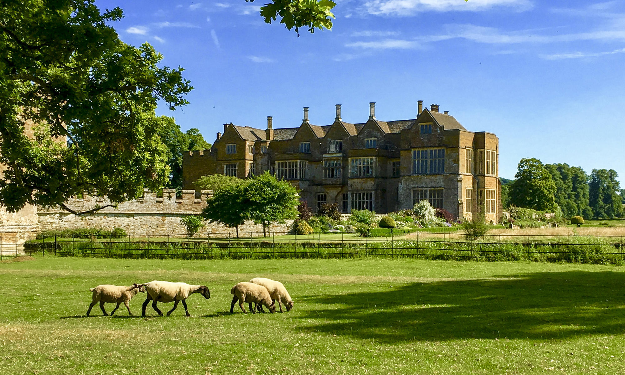 Broughton Castle is part of an 1800-acre estate of farmland and pastures. Visitors' fees play an important role in the upkeep of the castle.