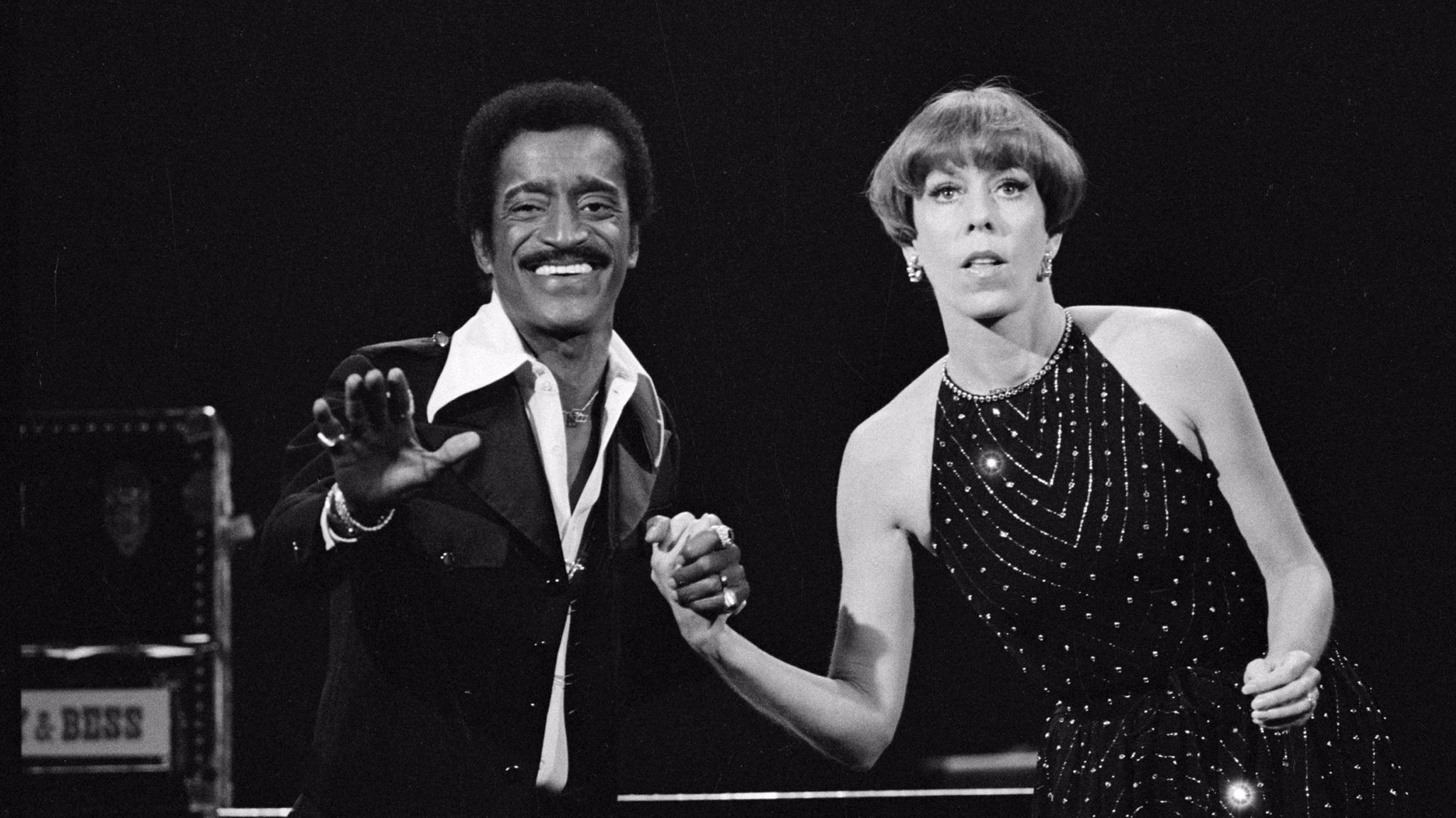 "Sammy Davis, Jr. and Carol Burnett on ""The Carol Bunett Show"" in 1976."