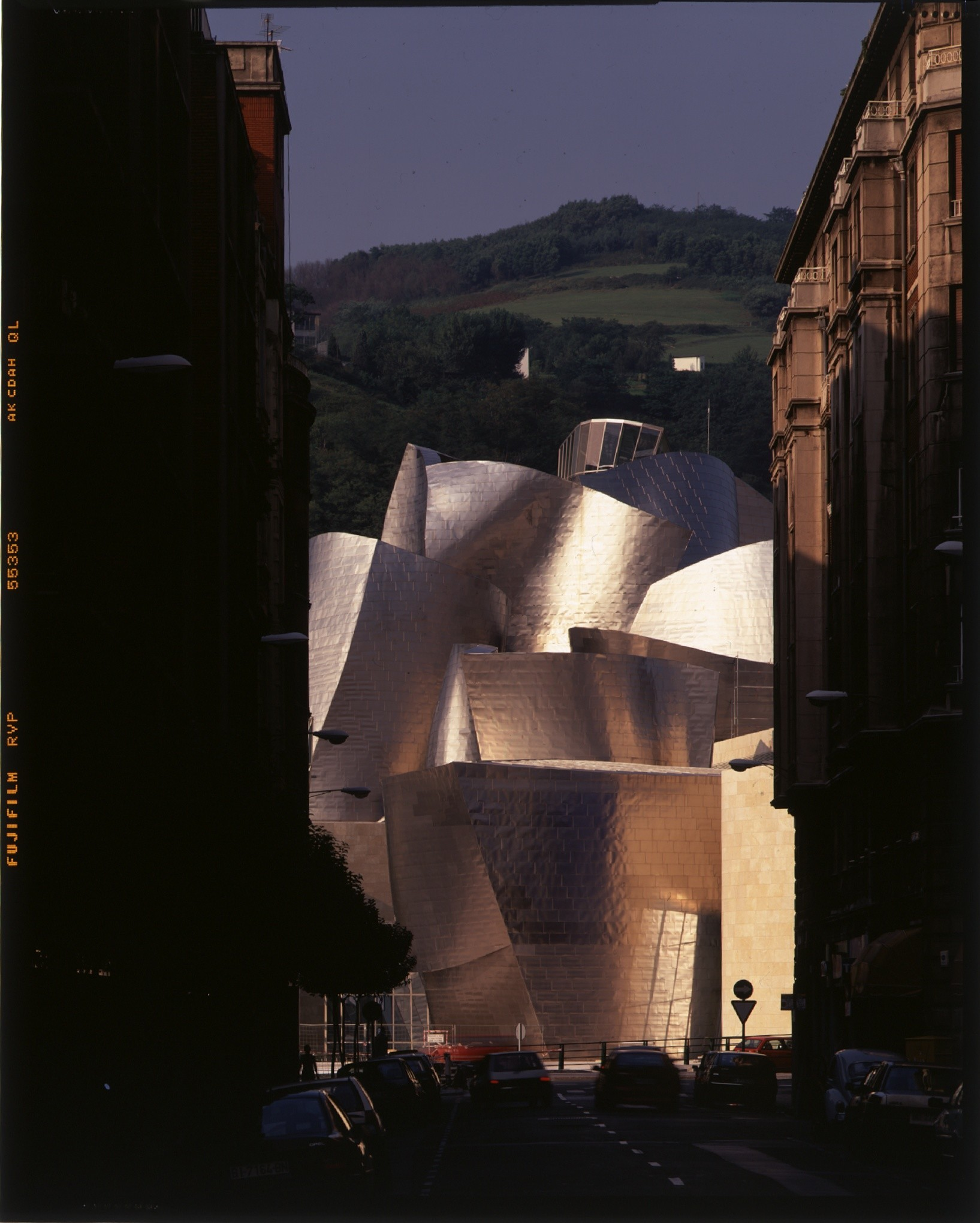 The Guggenheim Bilboa, as seen from Iparraguirre Street.