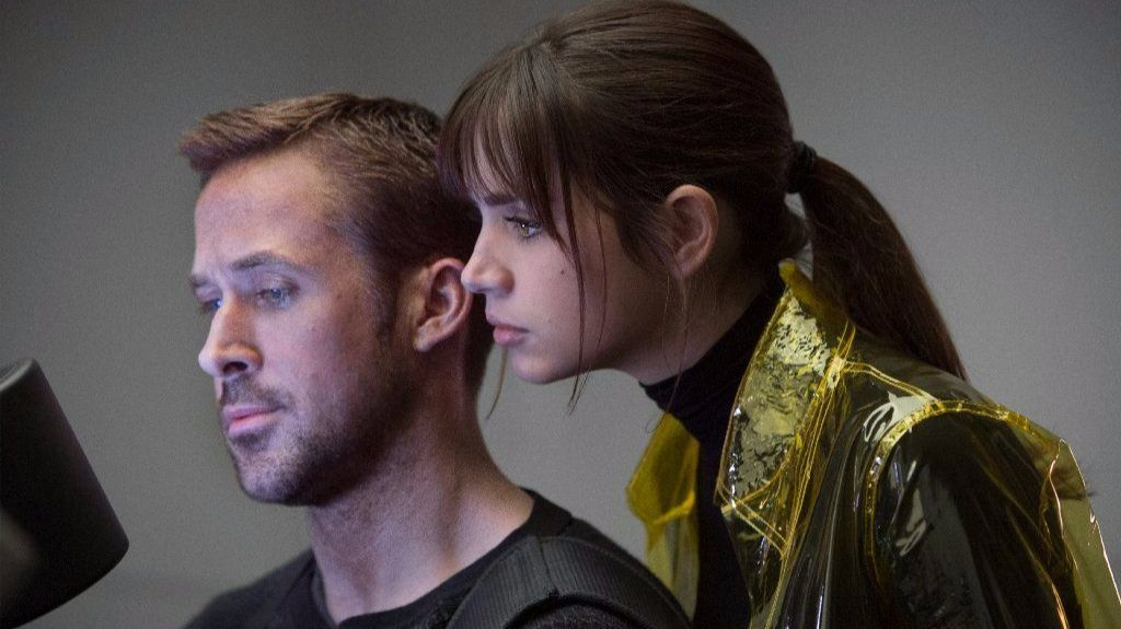 """Ryan Gosling, left, as K and Ana de Armas as Joi in the action thriller """"Blade Runner 2049."""""""