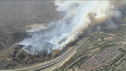 RAW: Evacuations ordered in Anaheim Hills as fires burn