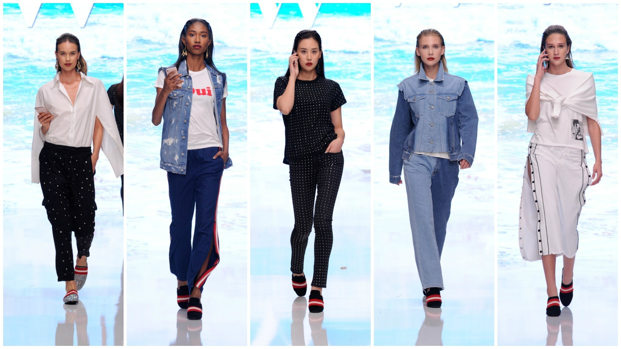 """Looks from the spring/summer 2018 Siwy Denim """"Zip Me Up!"""" collection."""
