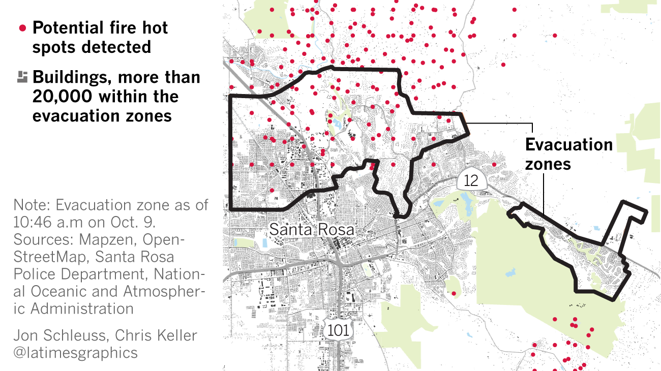 Santa Rosa Fire Map Update Santa Rosa resident comes home to find every house on her cul de