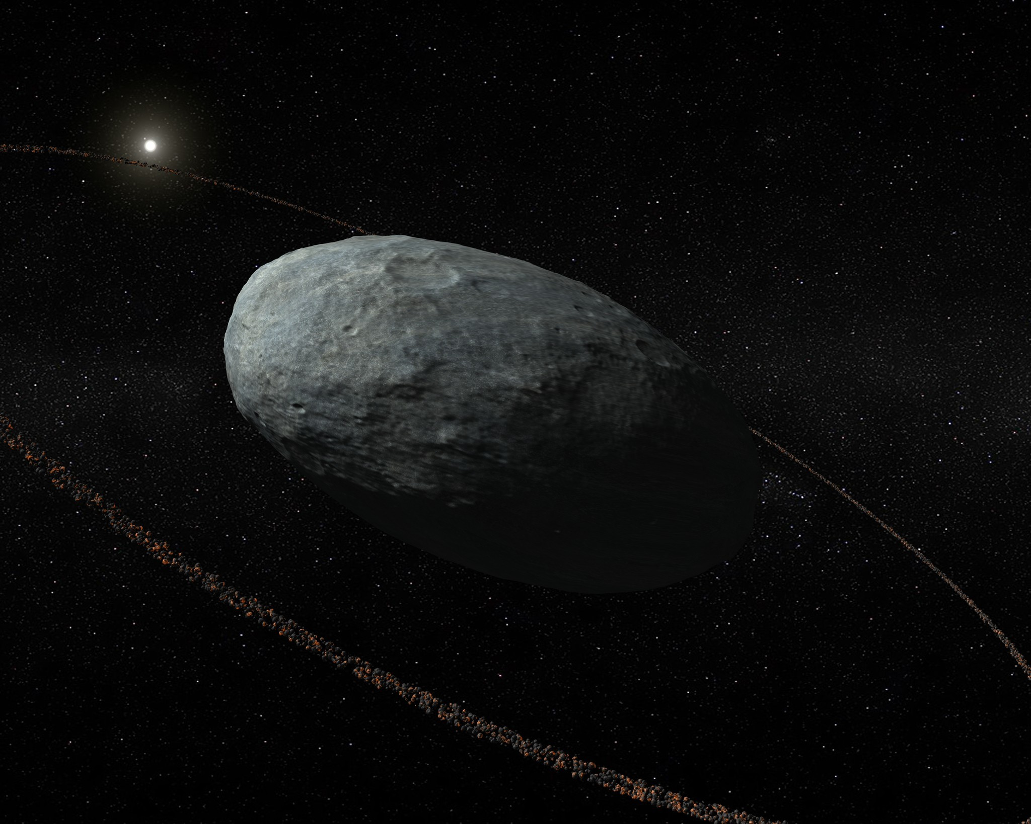Haumea's ring is about 600 miles from the surface of the dwarf planet.