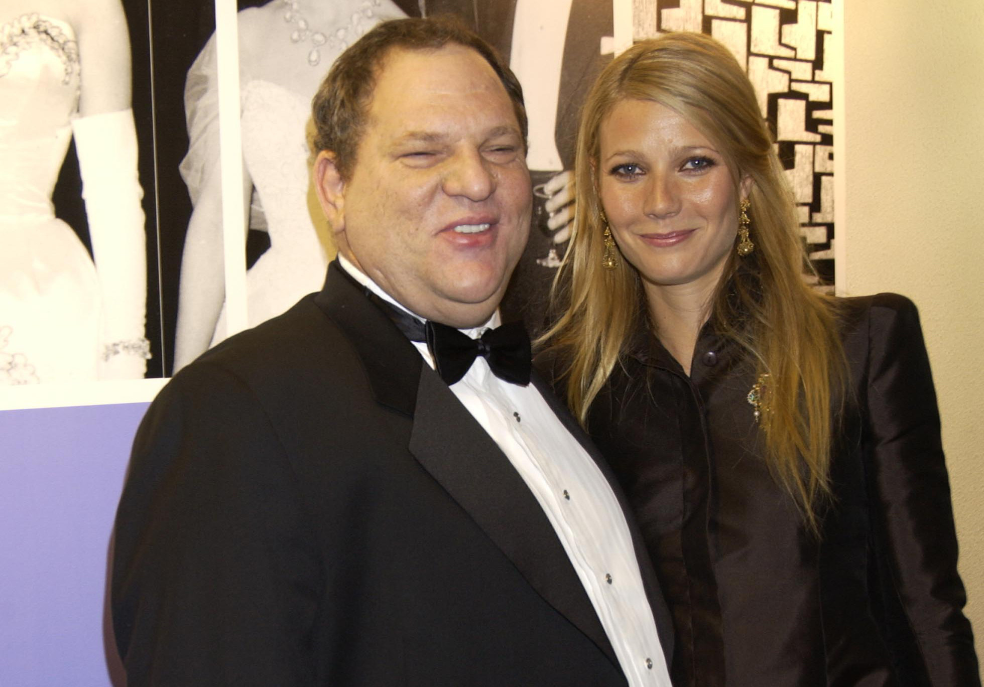 Harvey Weinstein and Gwyneth Paltrow at an event in London in 2002. (Getty Images)