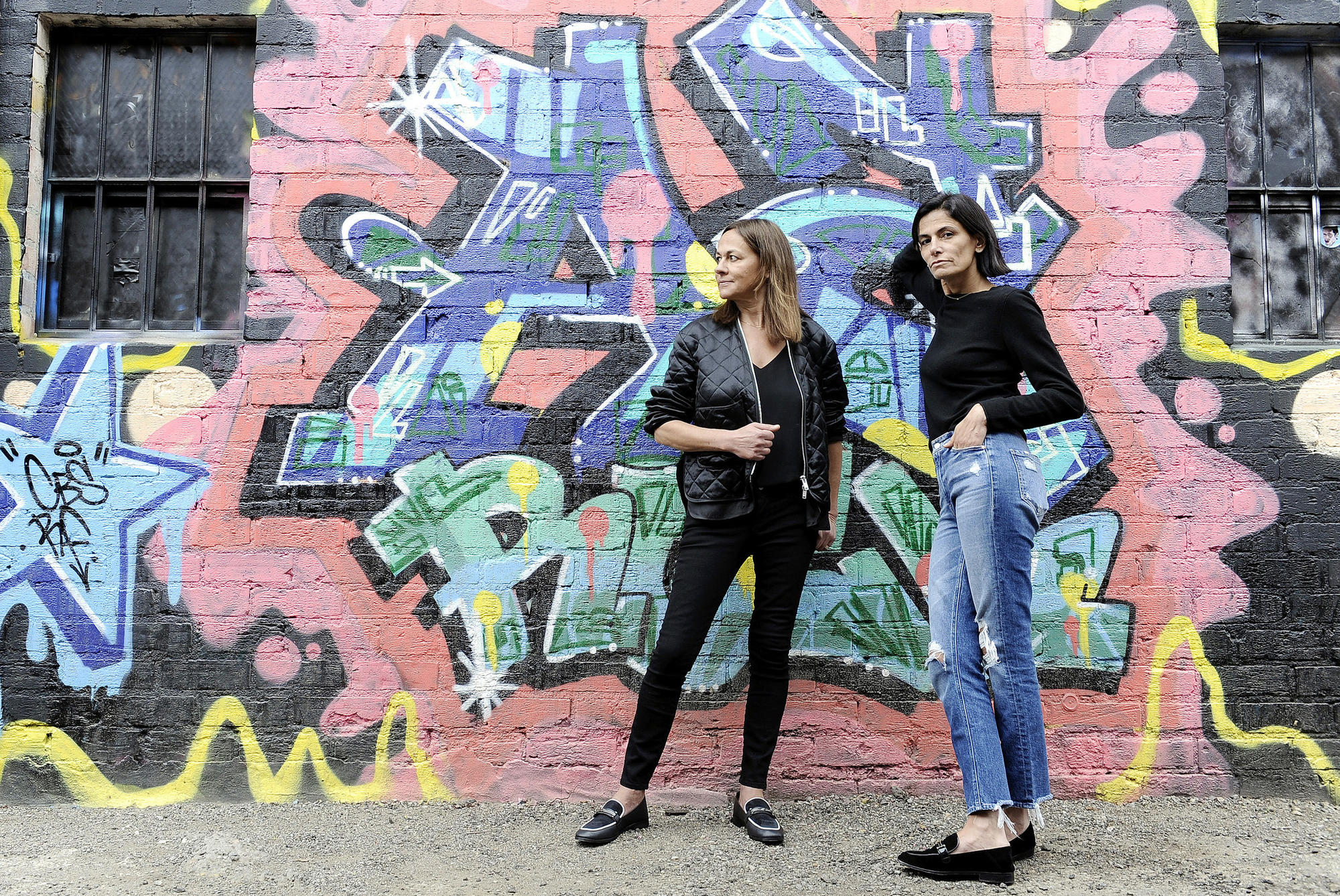 Marjan, left, and Maryam Malakpour, sisters and founders of luxury footwear and accessories brand Newbark.