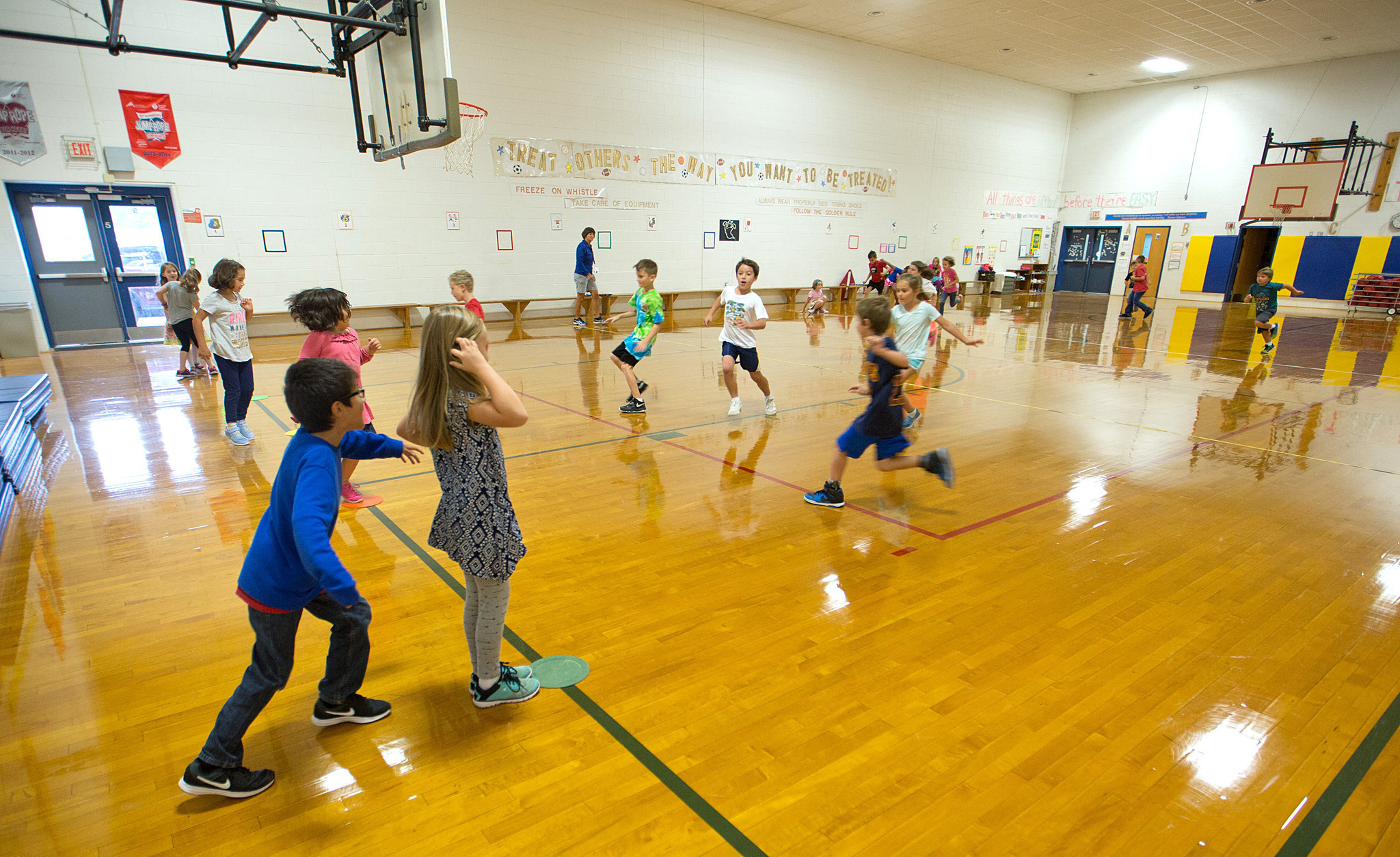 Mathews students back in the gym after snowstorm damage ...