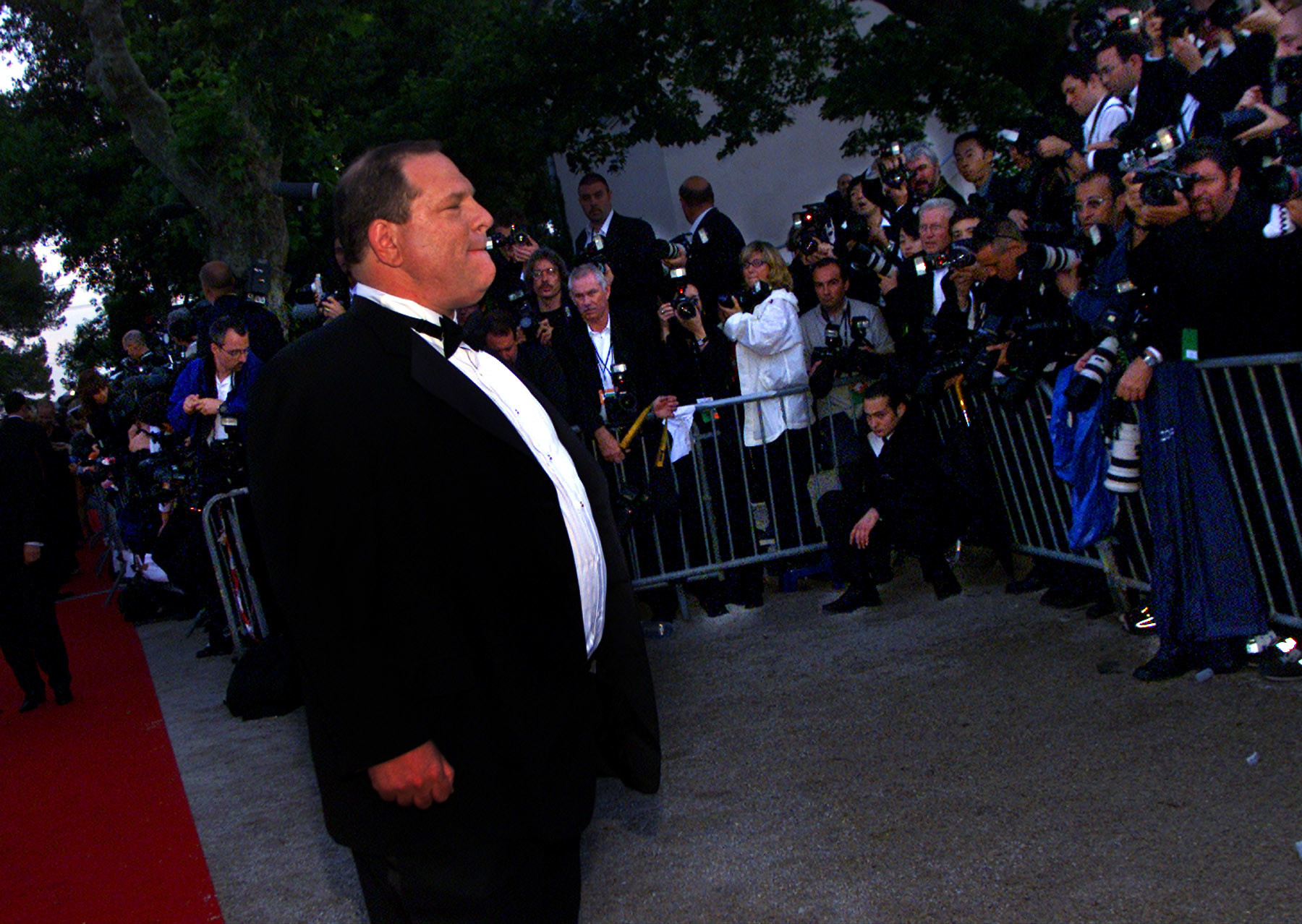 Harvey Weinstein walks the red carpet during the 2001 Cannes Film Festival. (Robert Gauthier / Los Angeles Times)