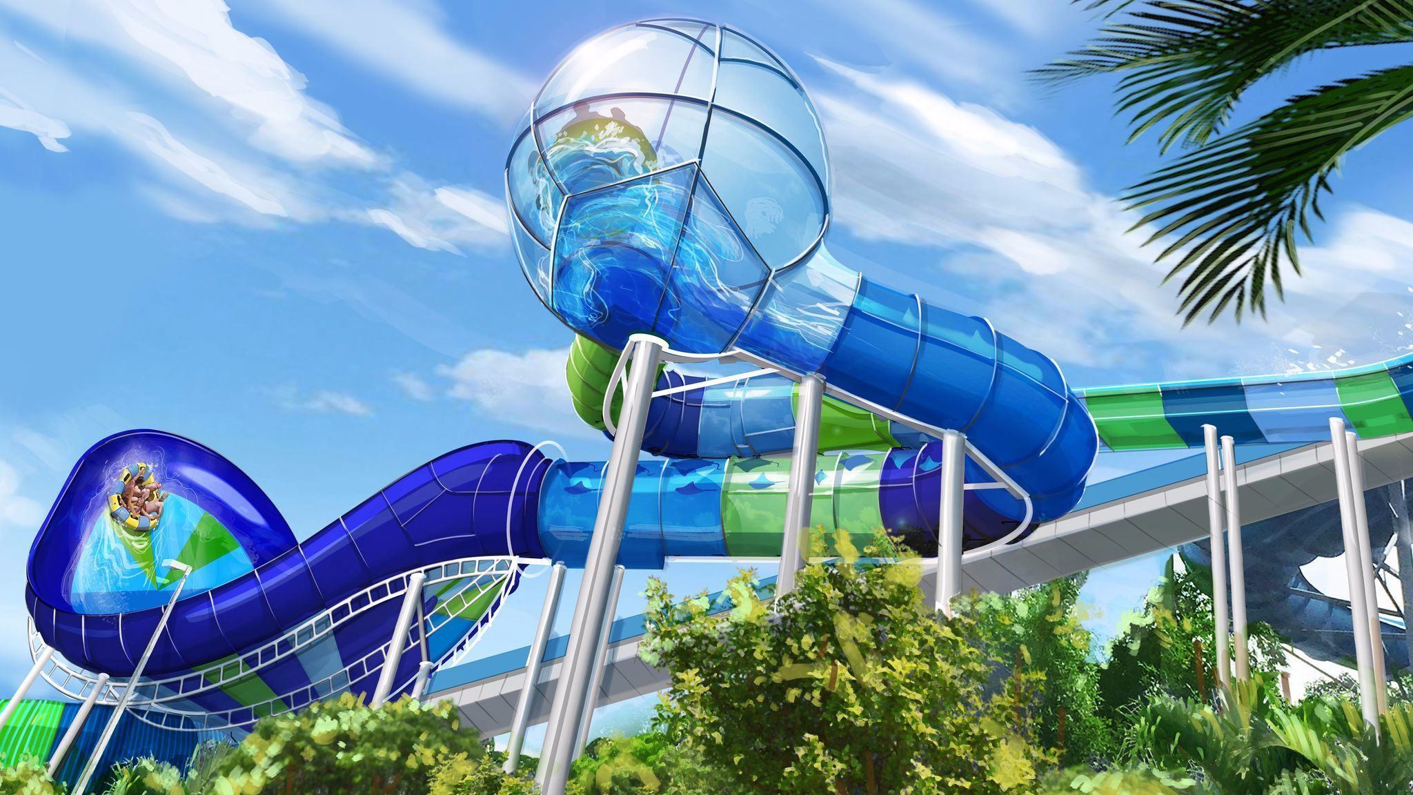 Aquatica New Ray Rush Water Slide Coming Up Orlando