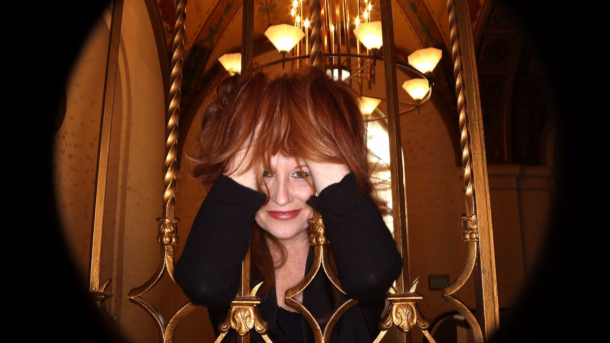 Karen Finley photographed at the Millennium Biltmore in Los Angeles in 2015.