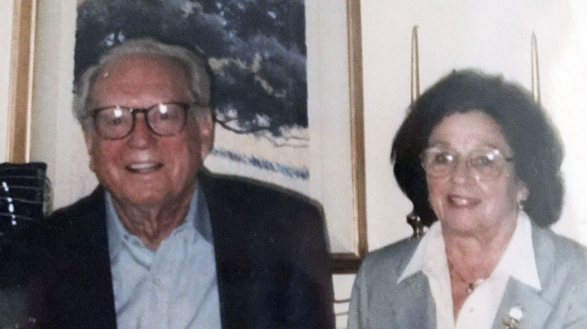 This undated photo provided by Michael Rippey shows his parents, Charles and Sara Rippey. Charles, 100, and Sara, 98, were unable to leave their Napa home and died when the Atlas fire swept through.