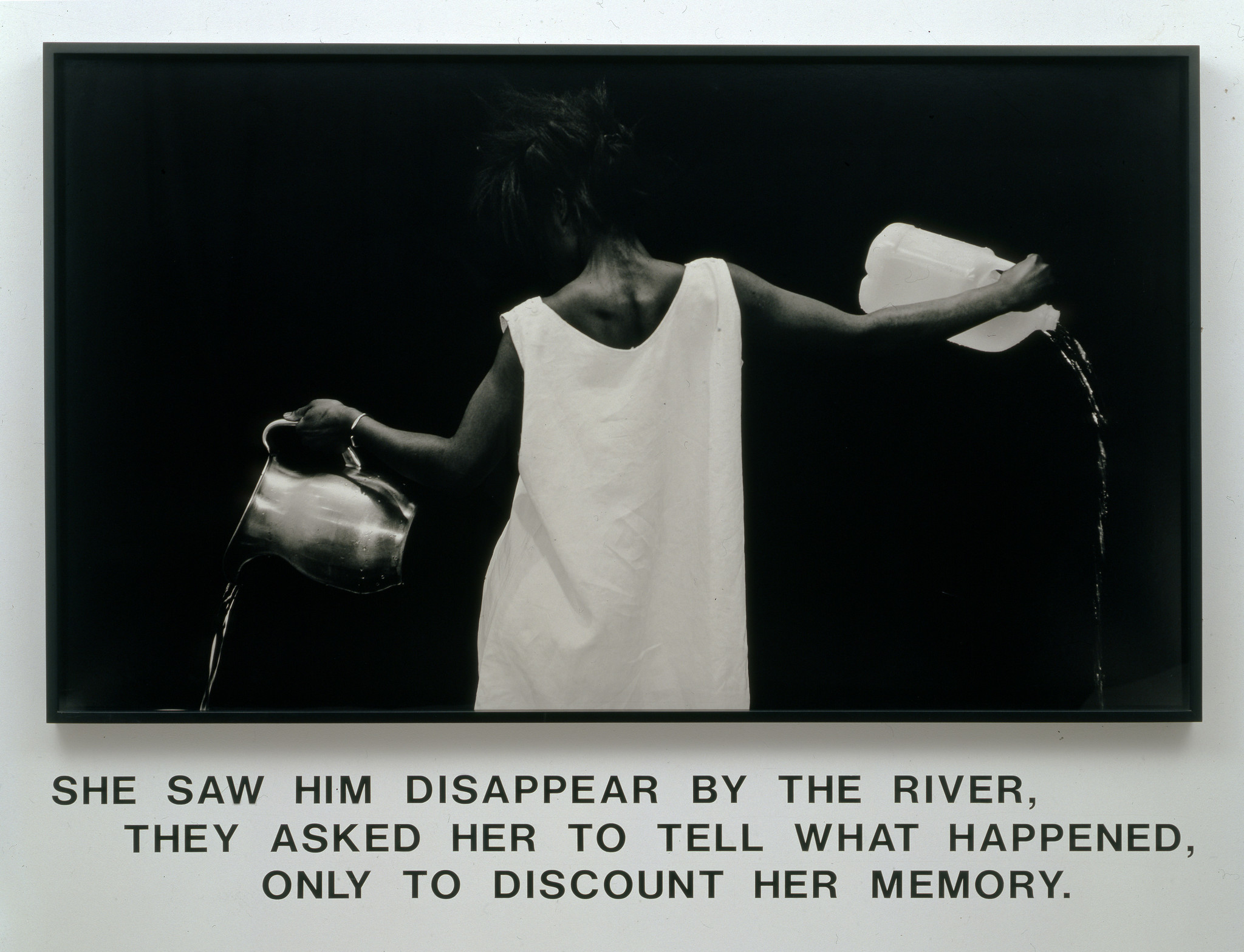 """Waterbearer,"" 1986, by Lorna Simpson, at the California African American Museum."
