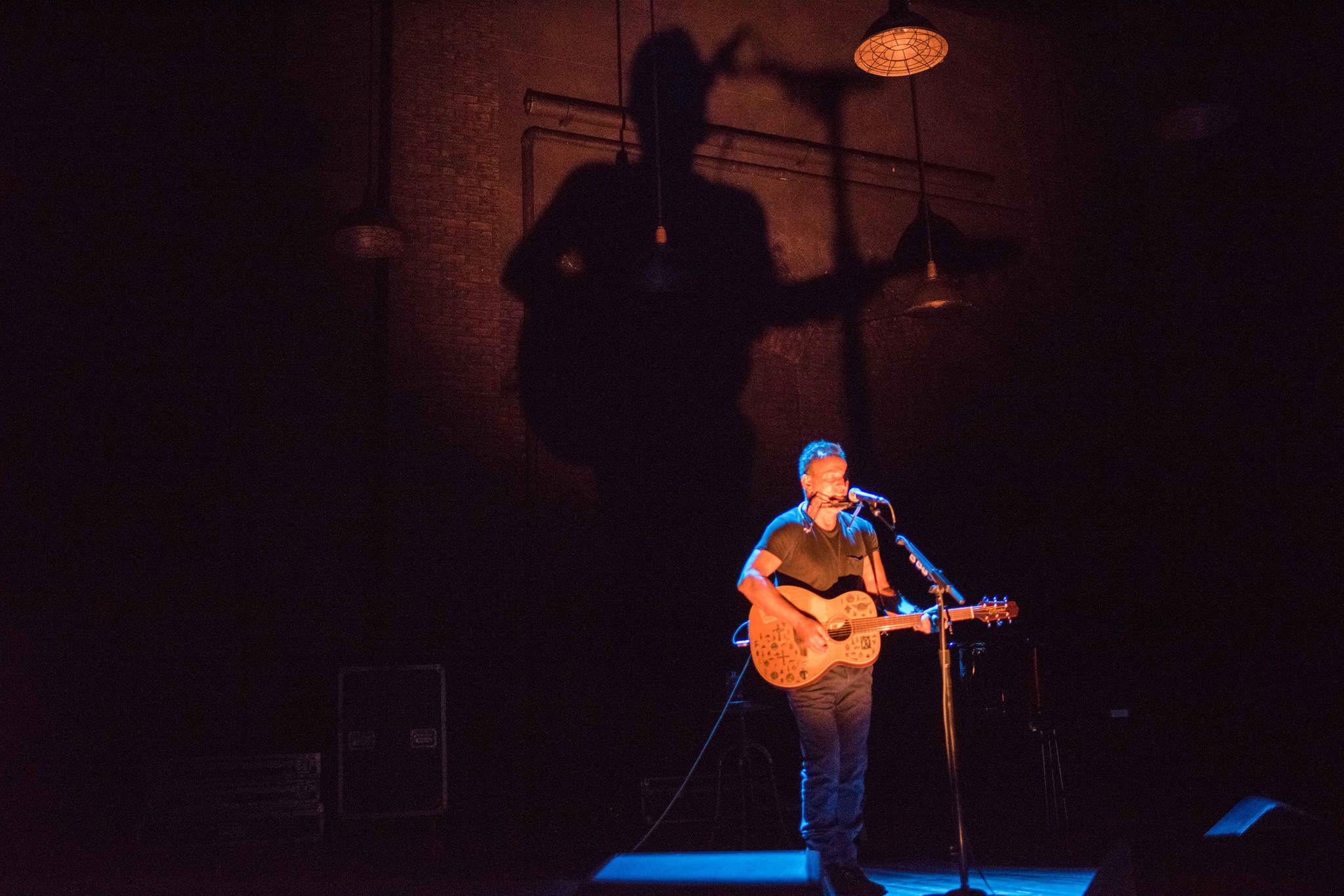 """Springsteen on Broadway,"" with a set by Heather Wolensky and lighting by Natasha Katz."