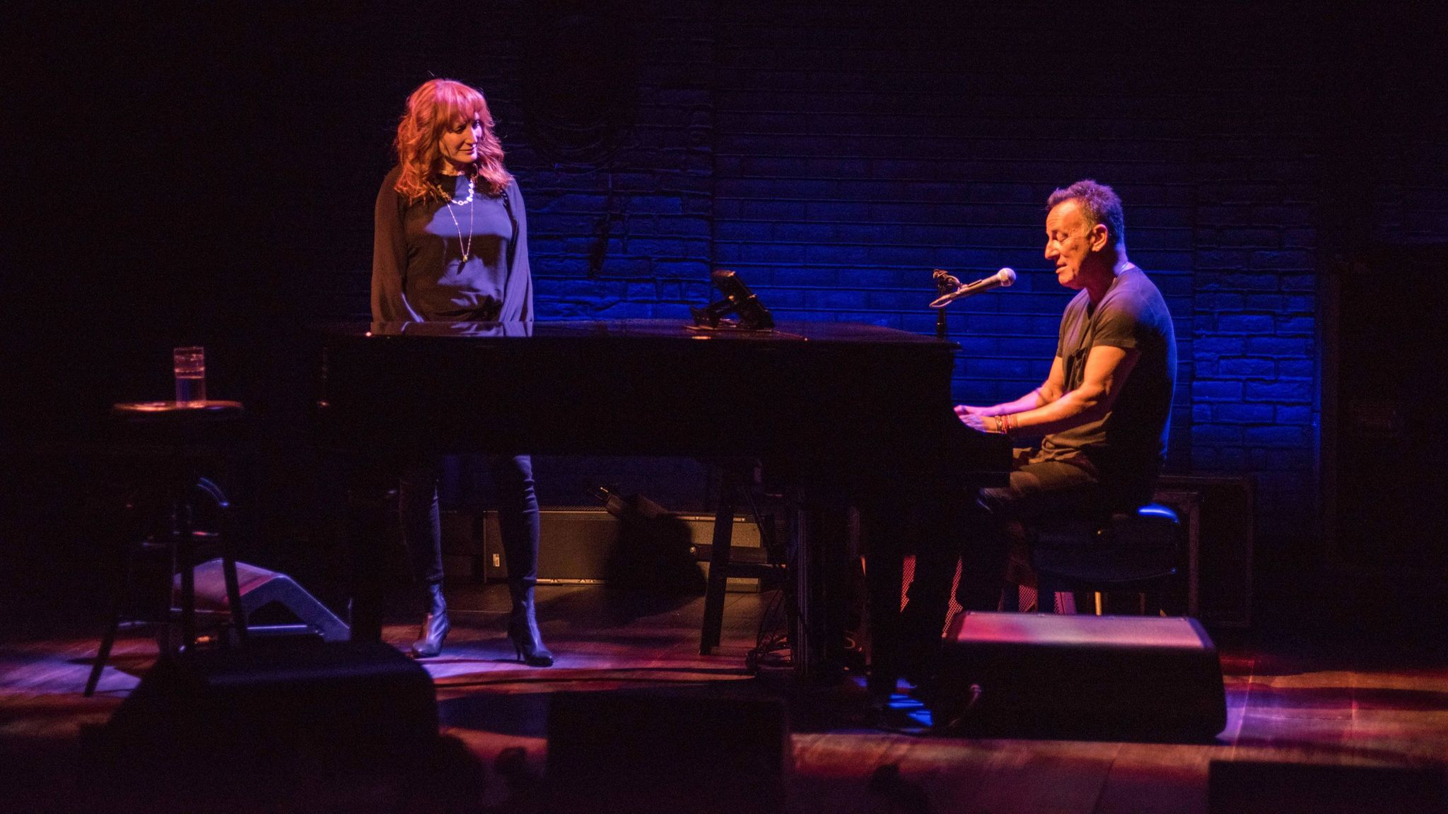 Patti Scialfa Springsteen joins Bruce onstage for two numbers.