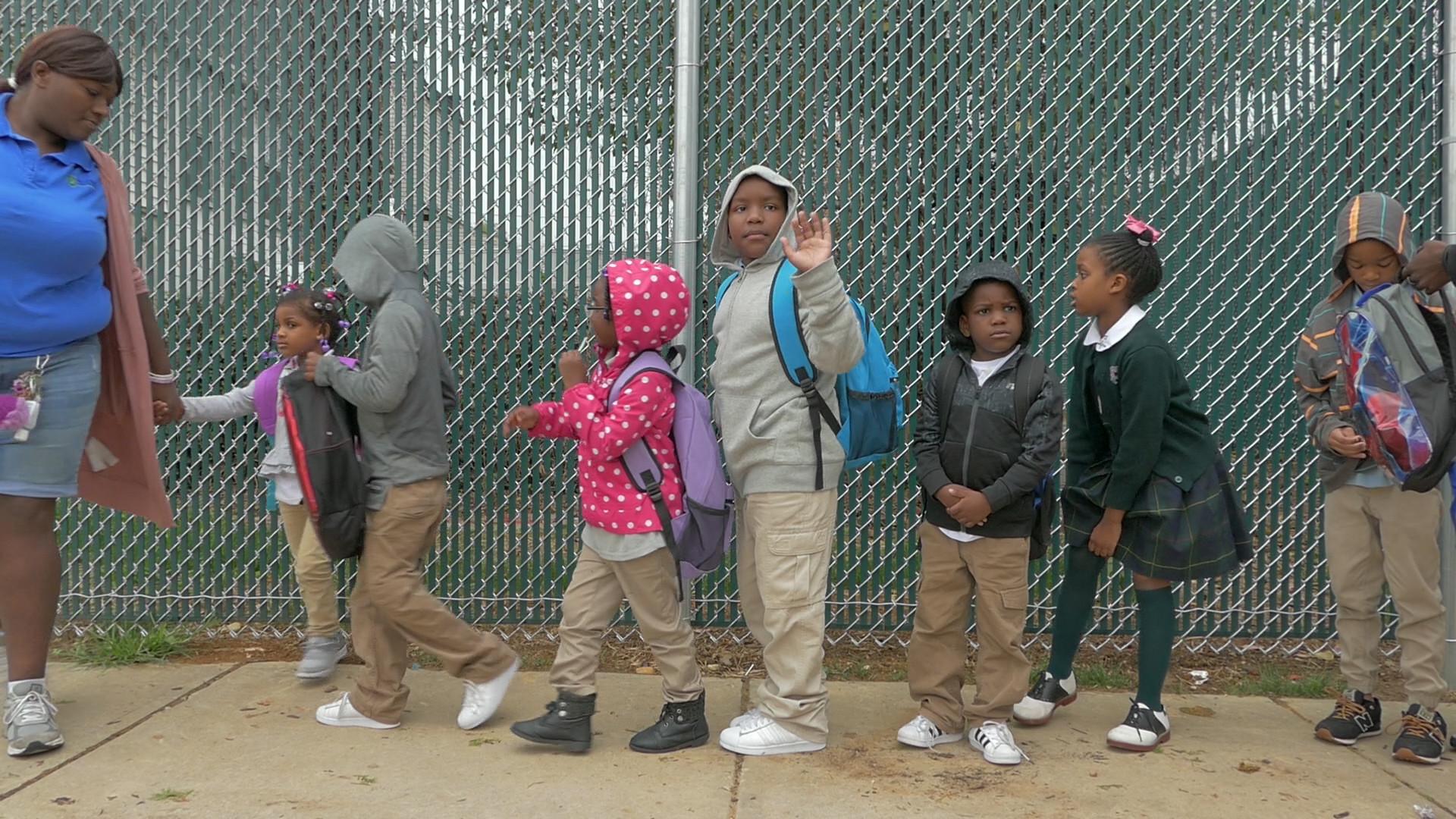 A Walking School Bus In Southwest Baltimore Keeps Kids