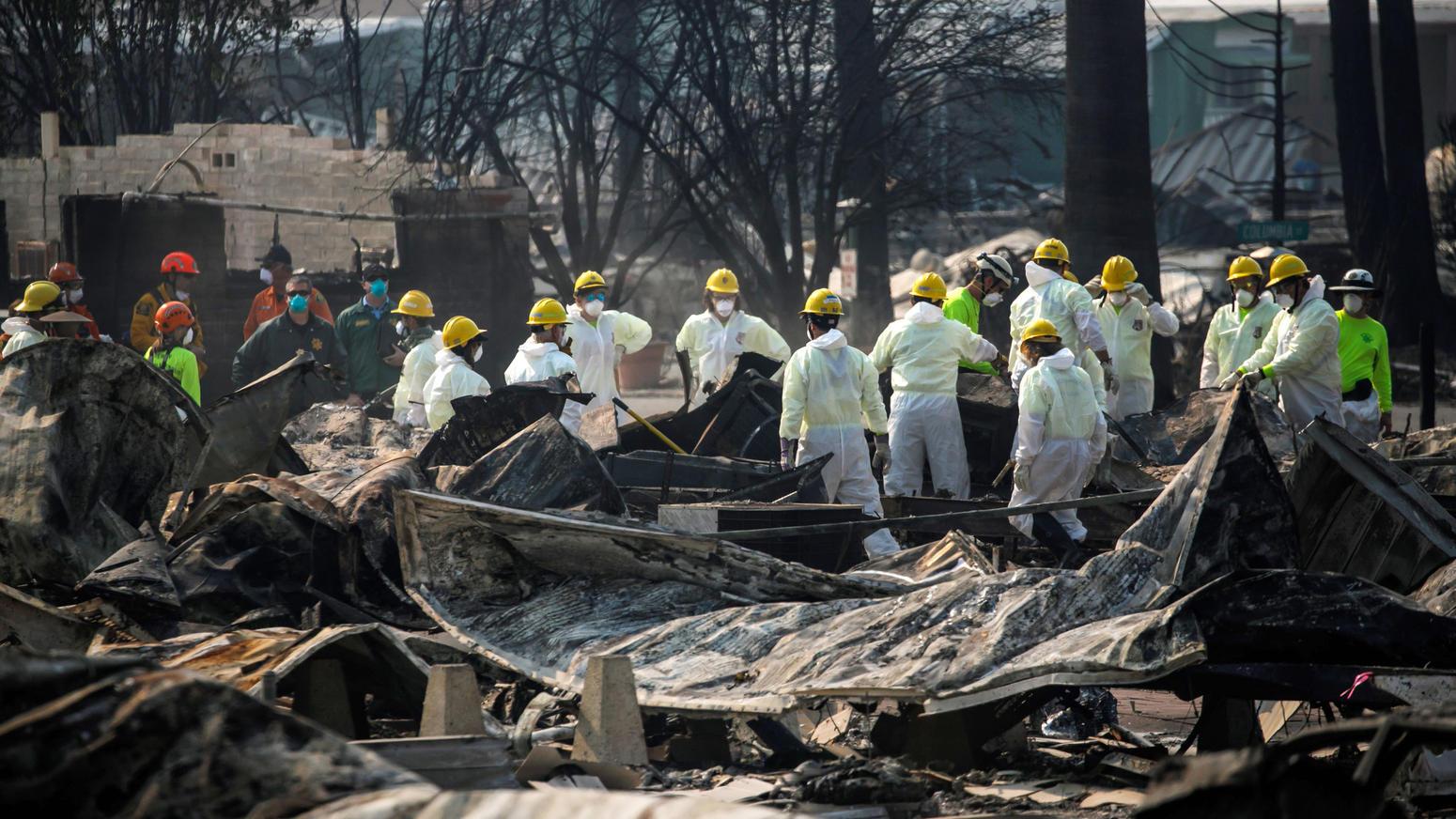 Devastating wildfires in Northern California